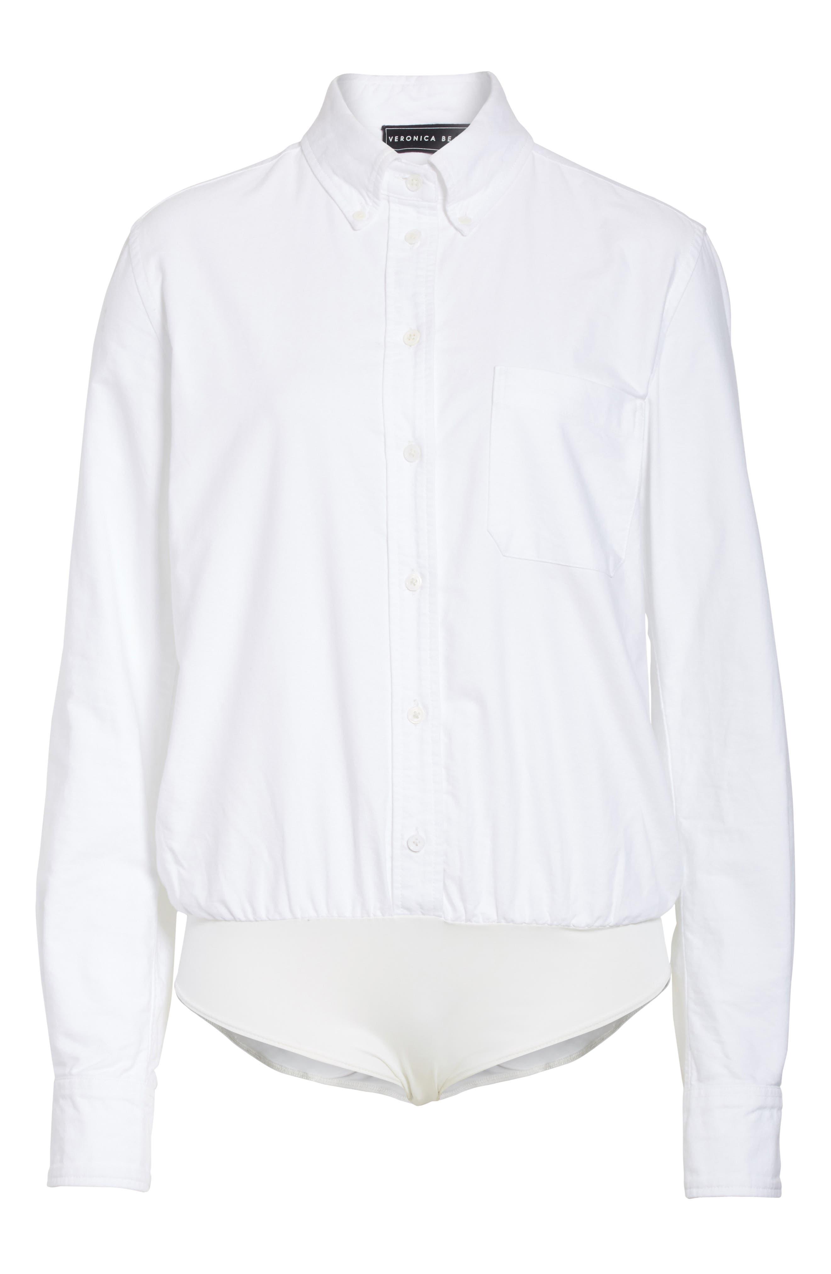 Brigitte Bodysuit,                             Alternate thumbnail 6, color,                             White