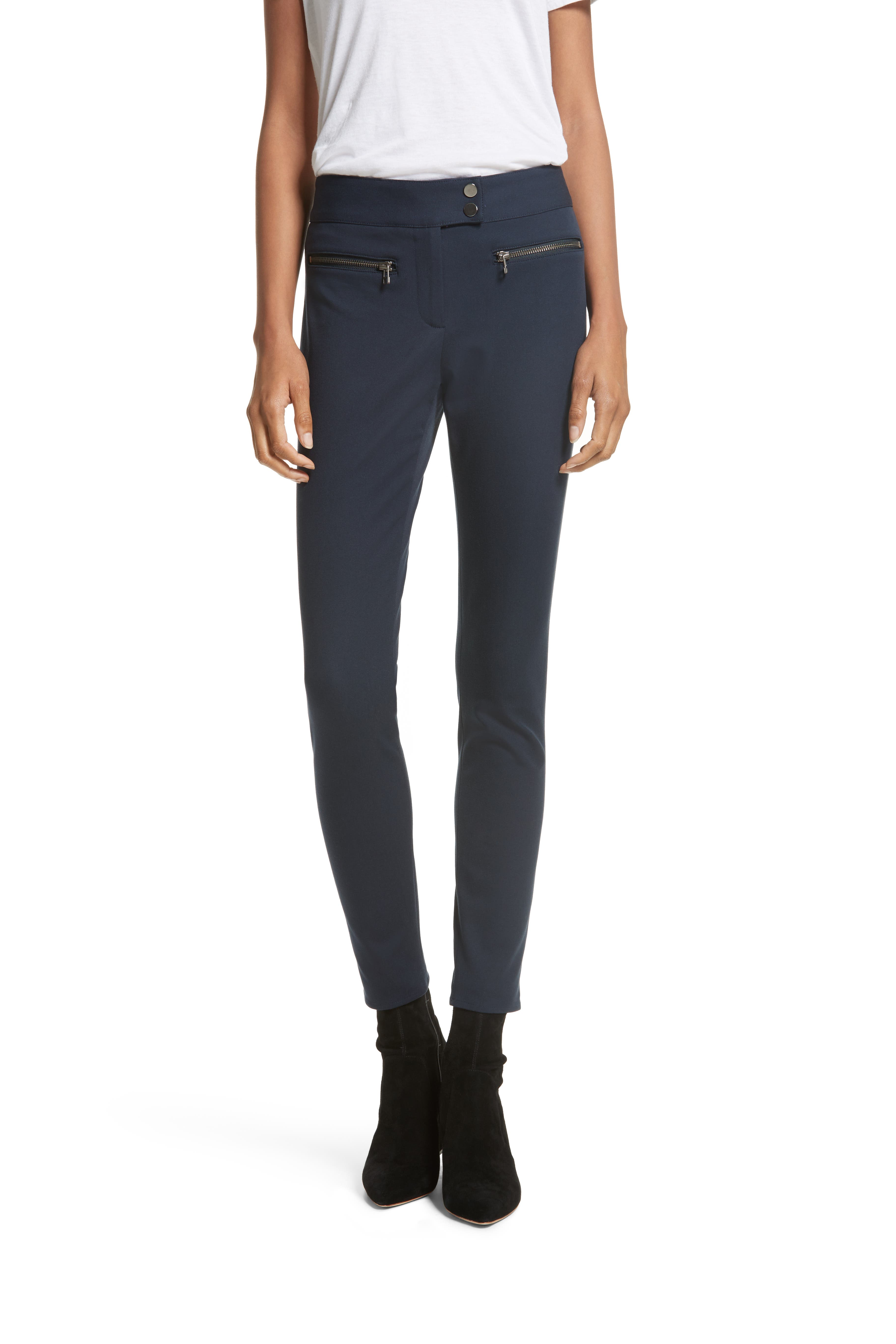 Ankle Skinny Pants,                         Main,                         color, Navy