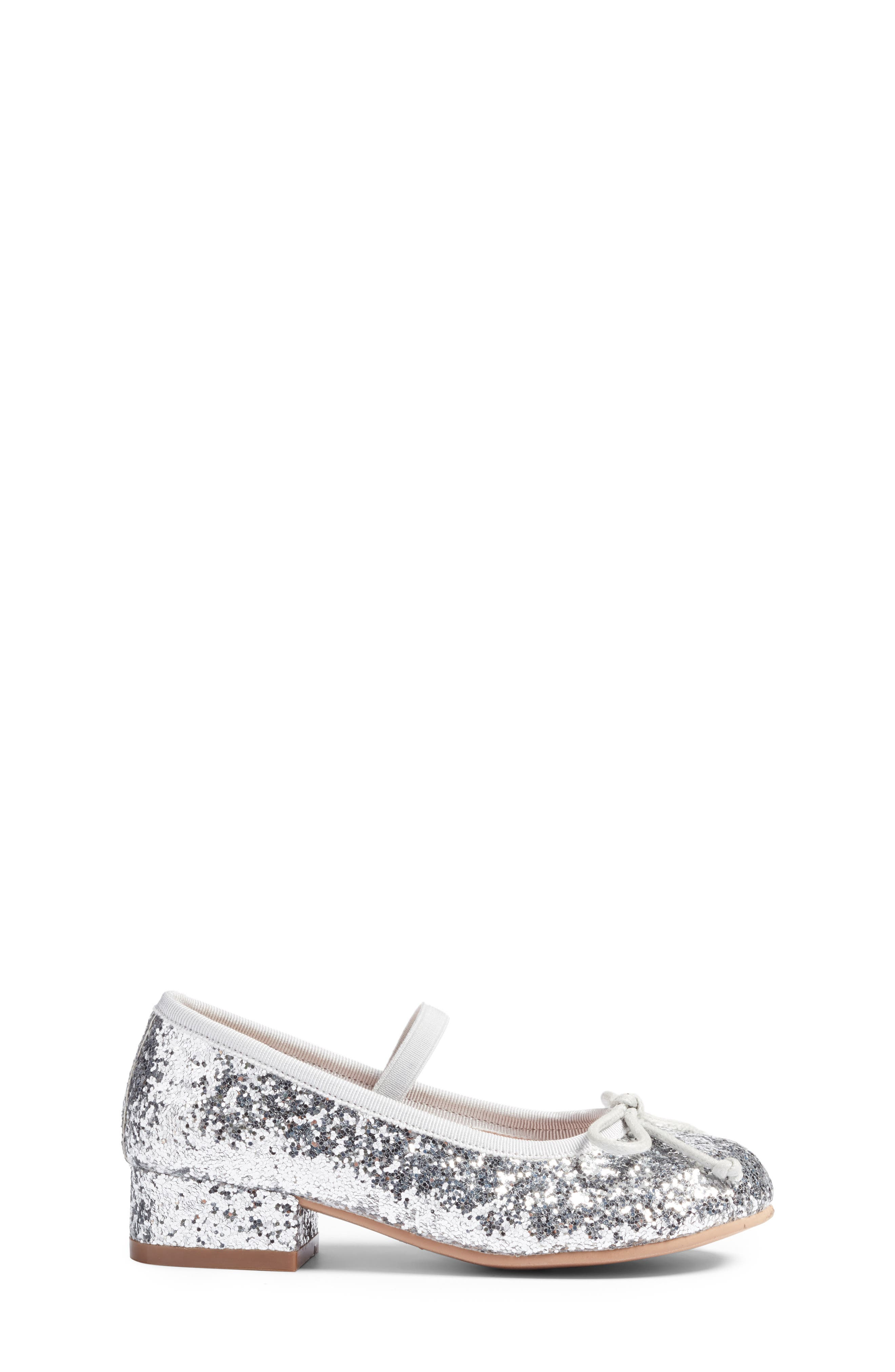 Hallie Glittery Mary Jane,                             Alternate thumbnail 3, color,                             Silver Glitter Faux Leather
