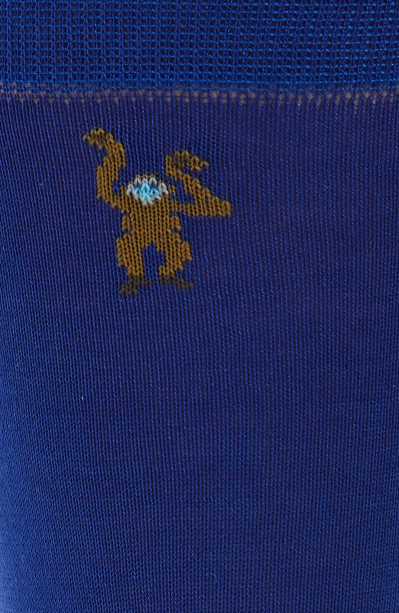 Monkey Socks,                             Alternate thumbnail 2, color,                             Dark Blue