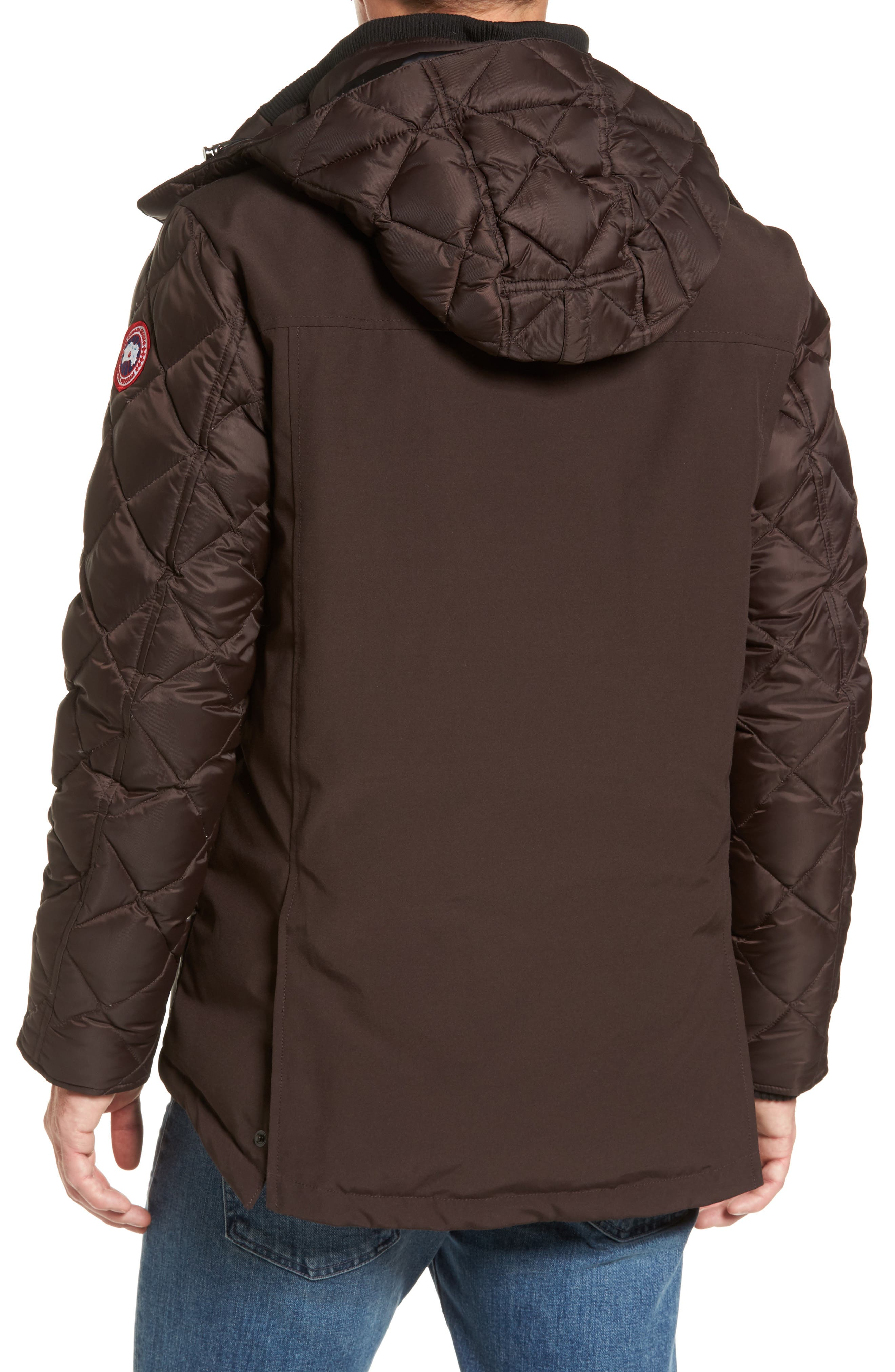 Hendriksen Quilted Down Coat,                             Alternate thumbnail 2, color,                             Charred Wood