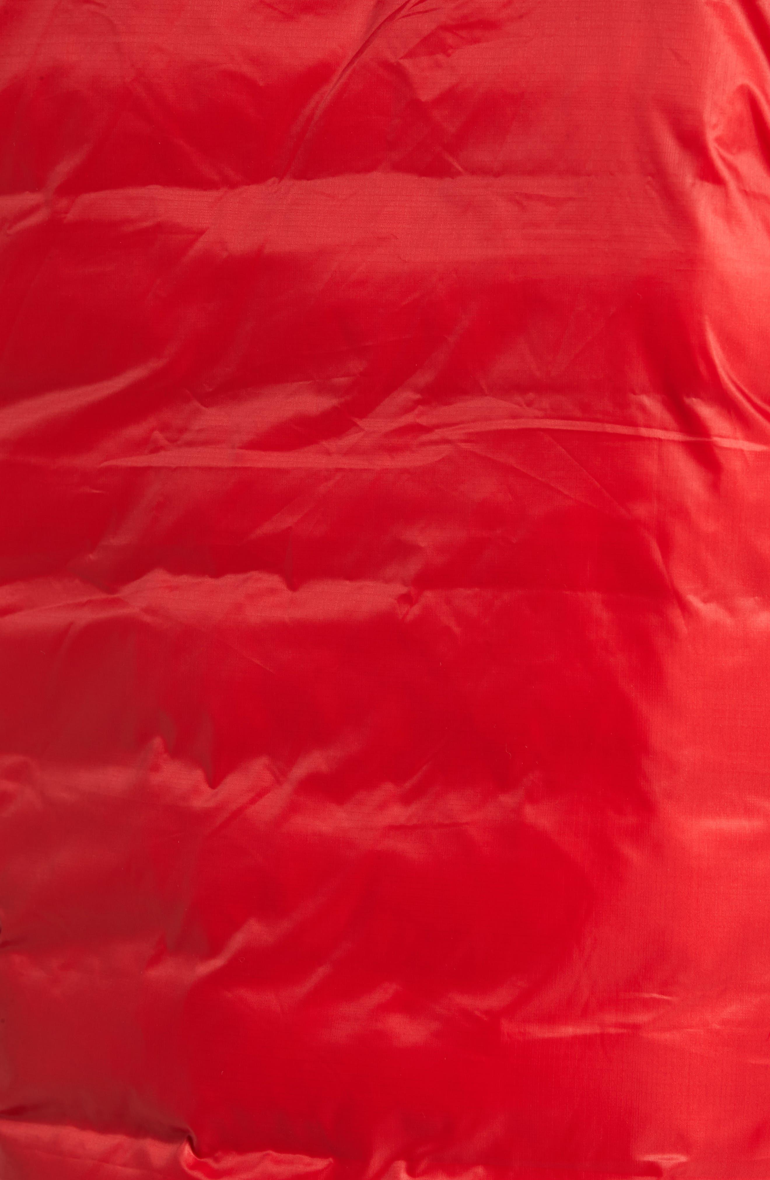 'Lodge' Slim Fit Packable Hoodie,                             Alternate thumbnail 6, color,                             Red/ Black