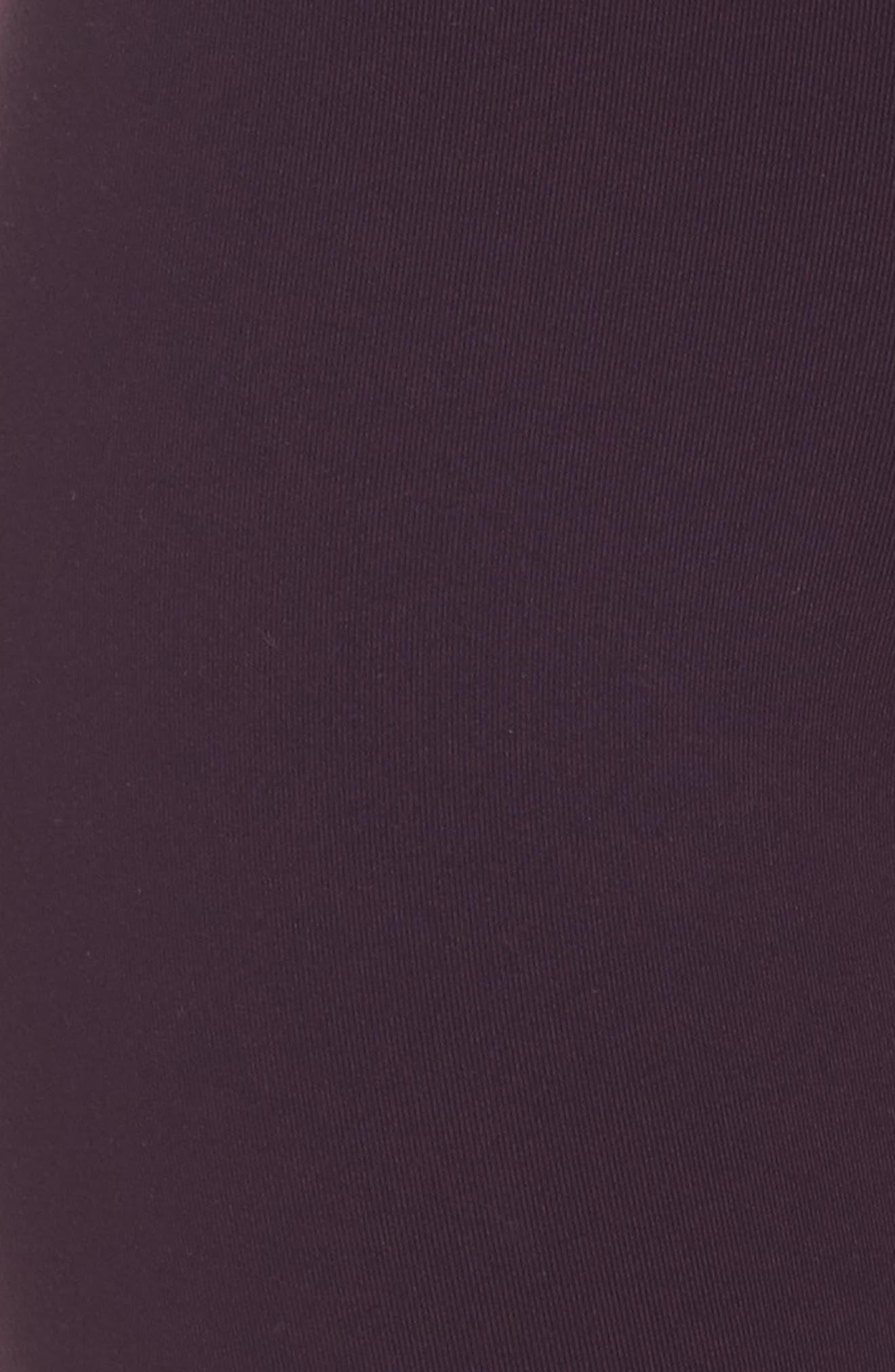 Power Legendary High Waist Tights,                             Alternate thumbnail 6, color,                             Port Wine/ Black