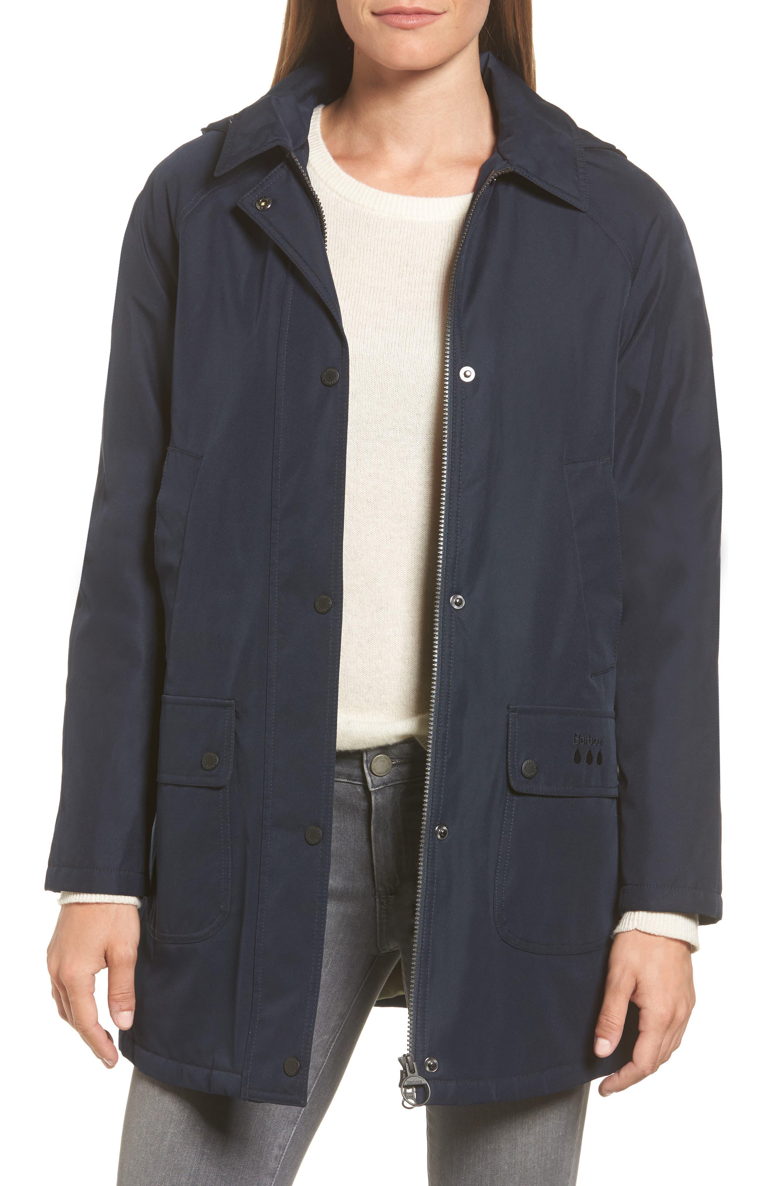Whirl Waterproof Hooded Jacket,                         Main,                         color, Dark Navy