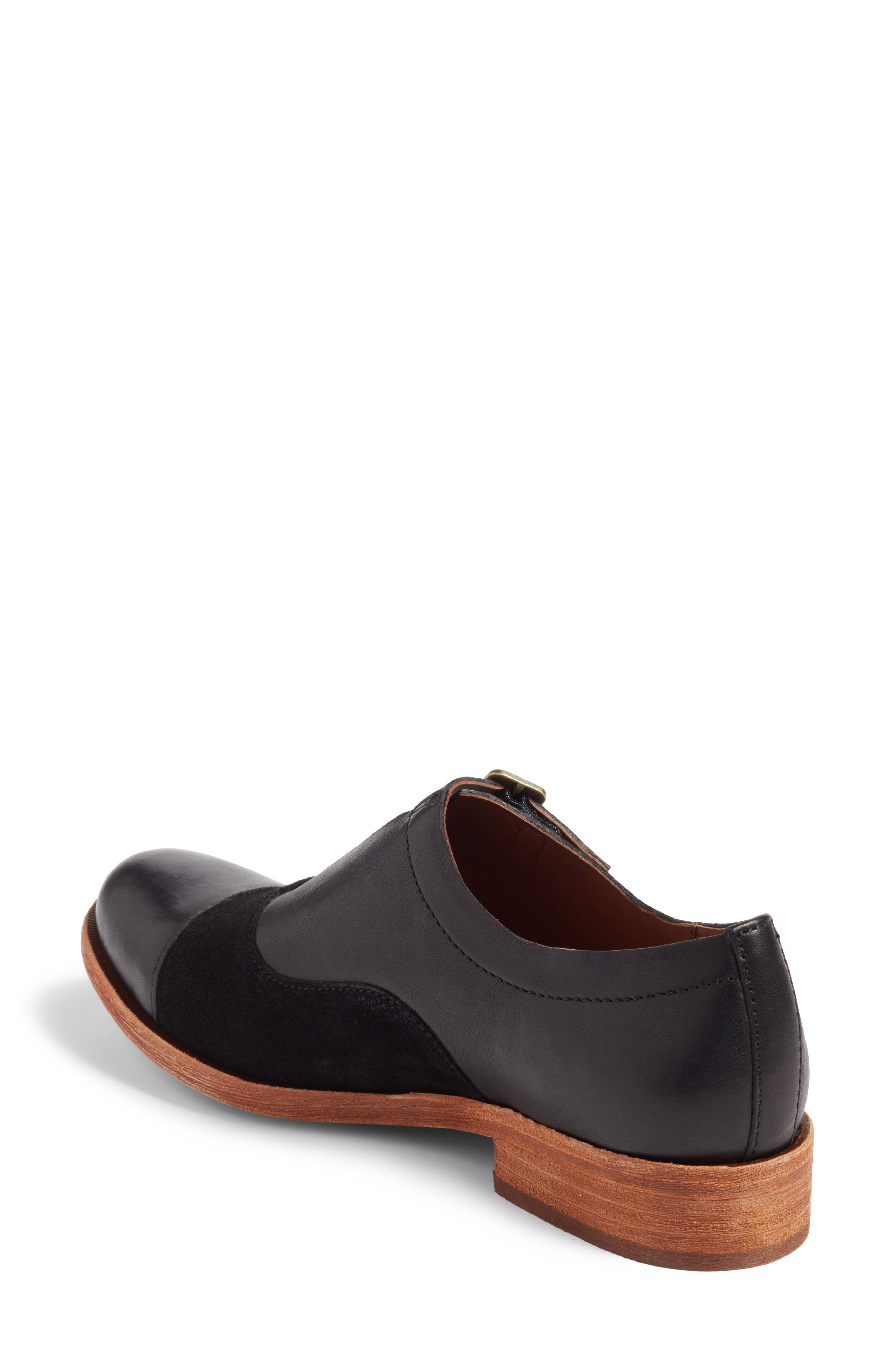 'Niseda' Oxford,                             Alternate thumbnail 2, color,                             Black Leather Suede Combo
