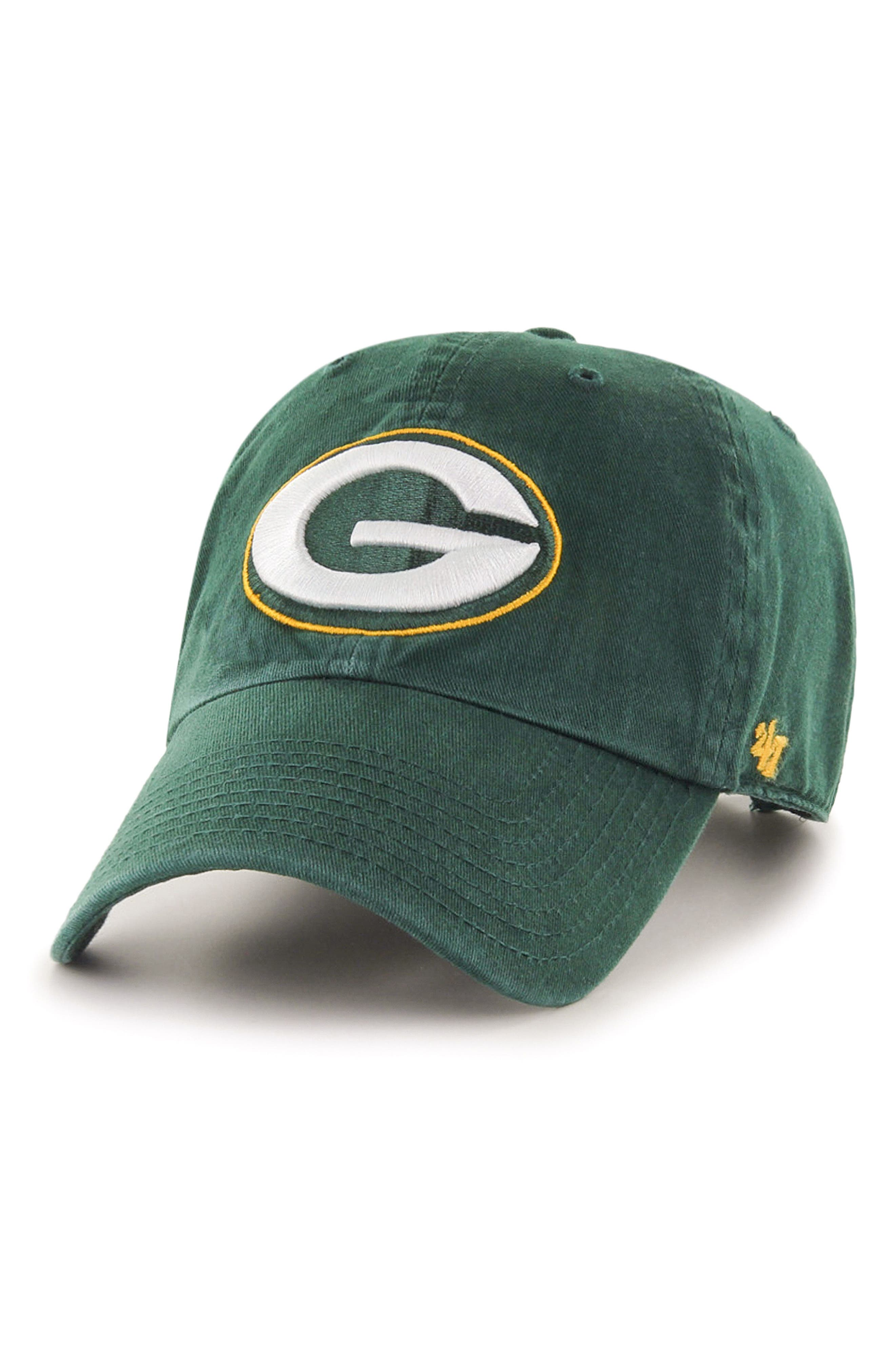 Clean Up NFL Baseball Cap,                             Main thumbnail 1, color,                             Green Bay Packers