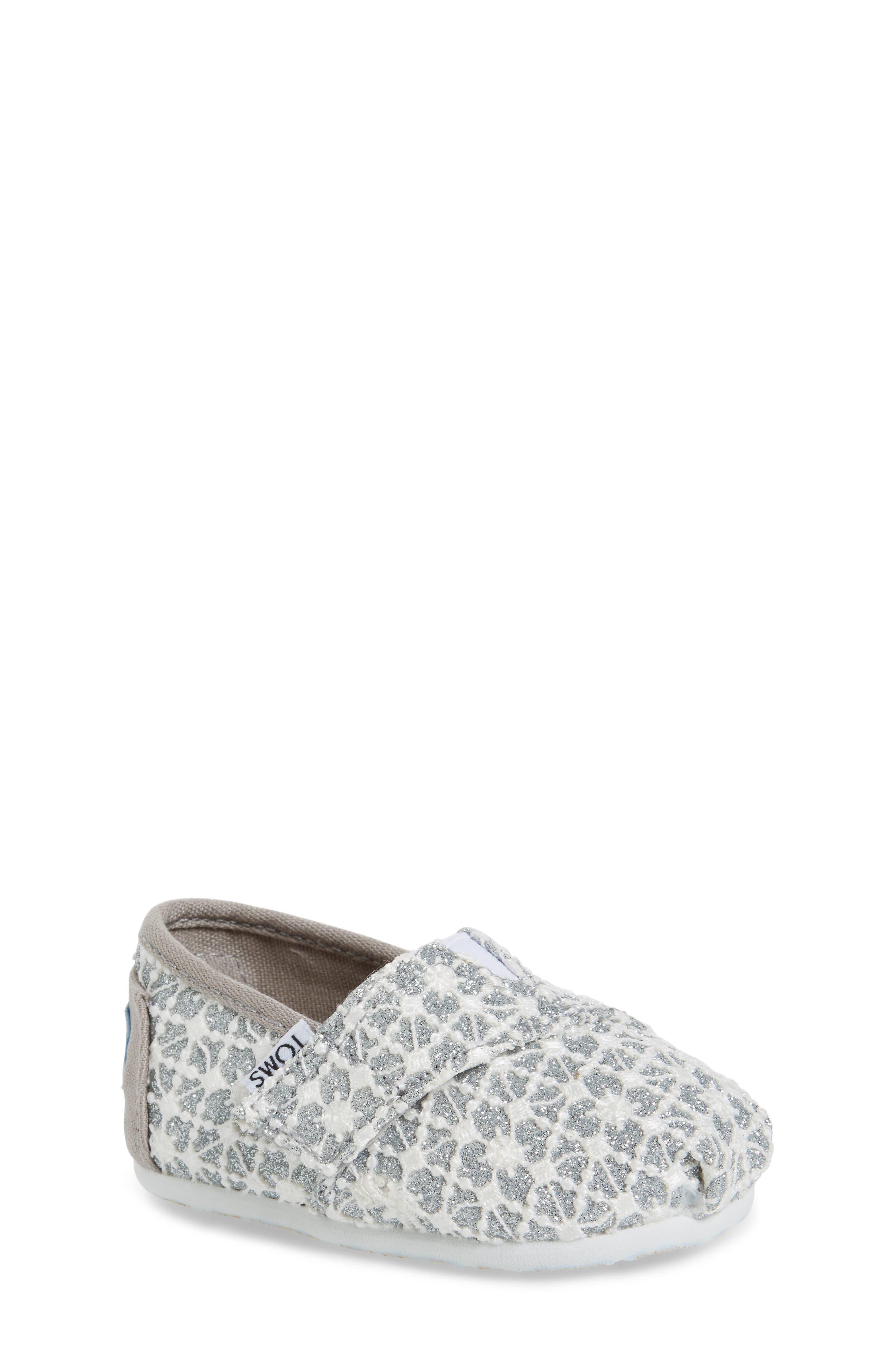 TOMS Classic Alpargata Lace Glimmer Slip-On