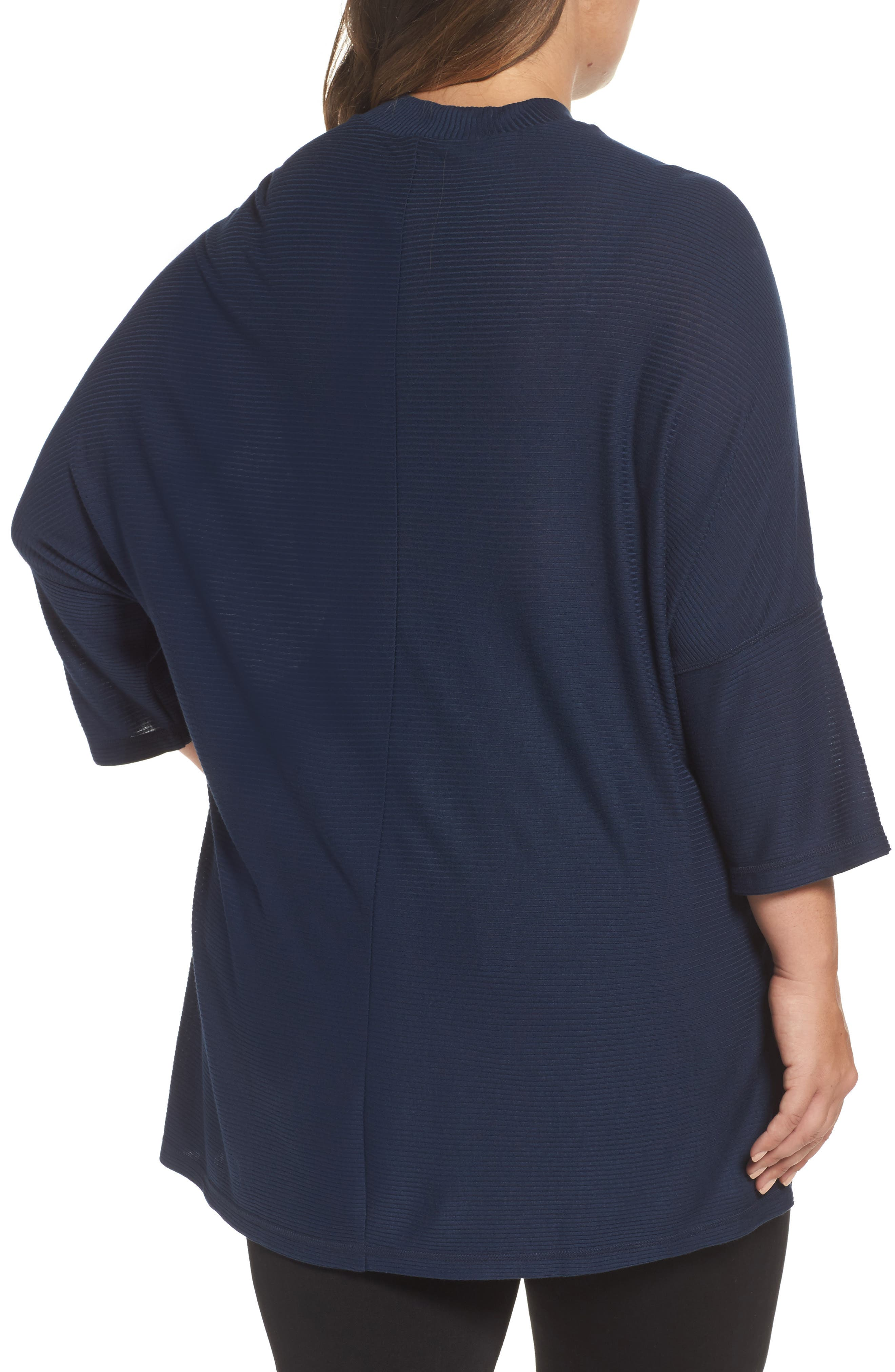 Alternate Image 2  - Melissa McCarthy Seven7 Mock Neck Rib Knit Top (Plus Size)