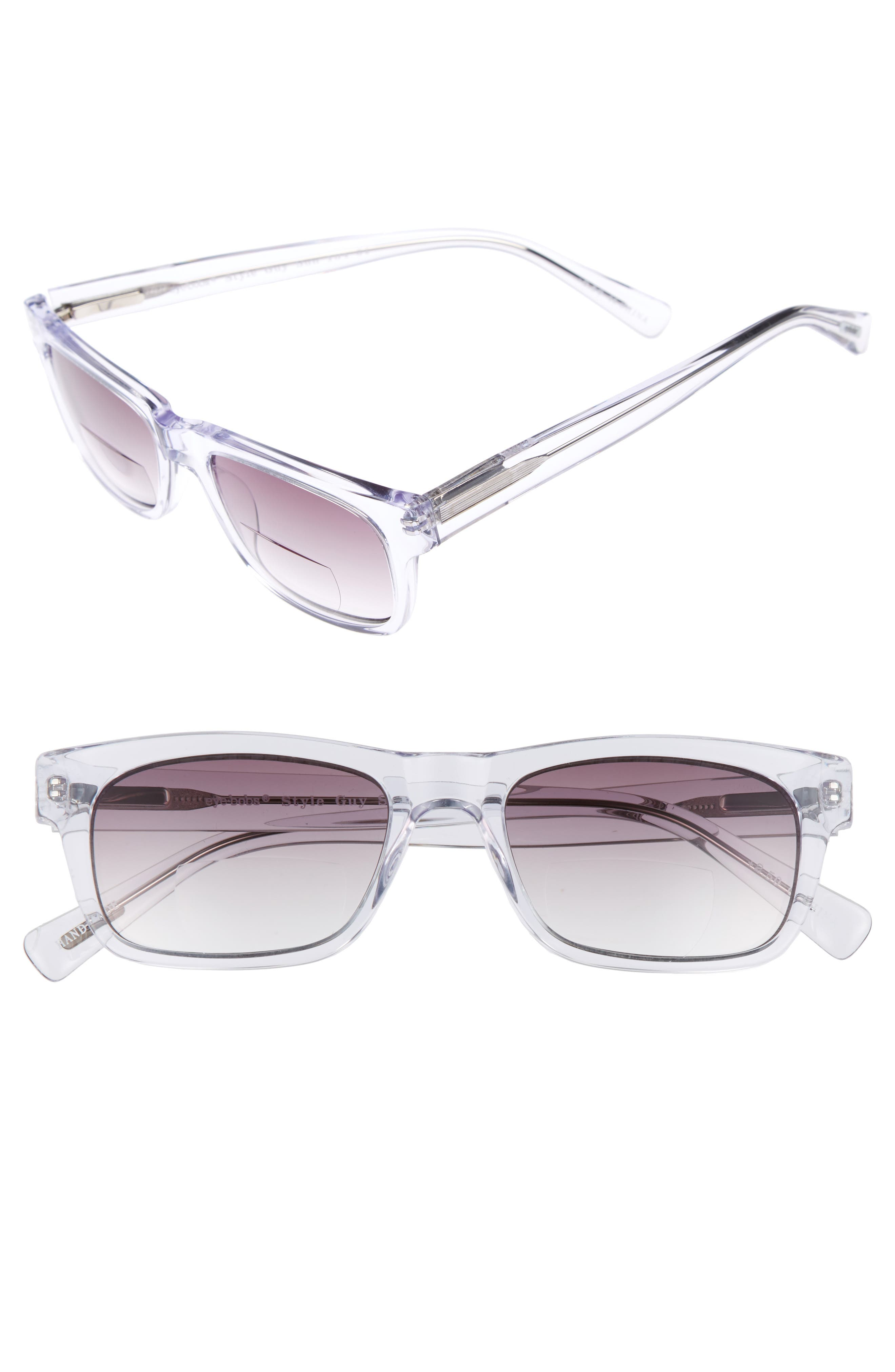 EYEBOBS Style Guy Sun Reader 52Mm Reading Sunglasses - Clear