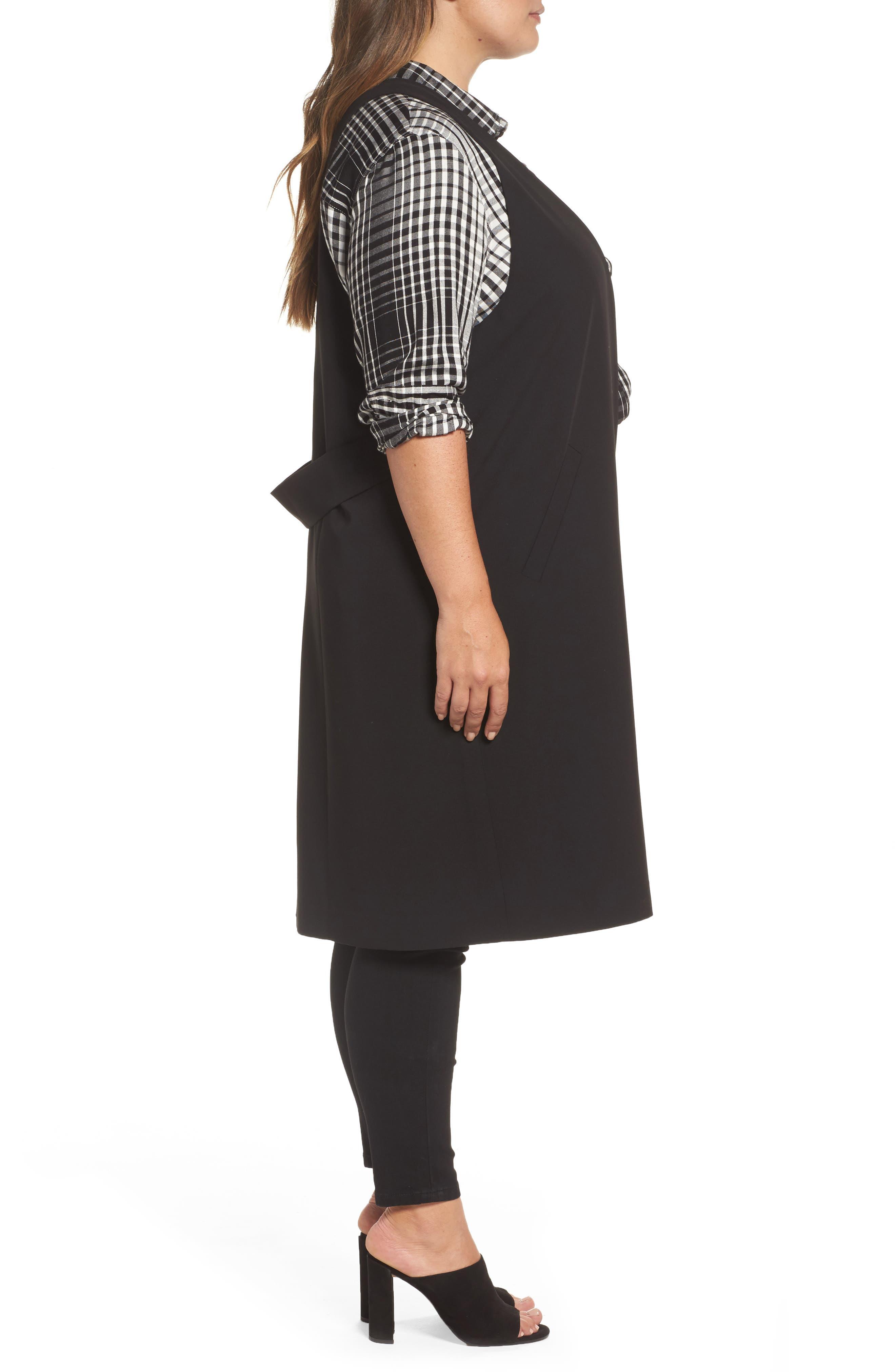 Alternate Image 3  - Melissa McCarthy Seven7 Open Front Longline Vest (Plus Size)
