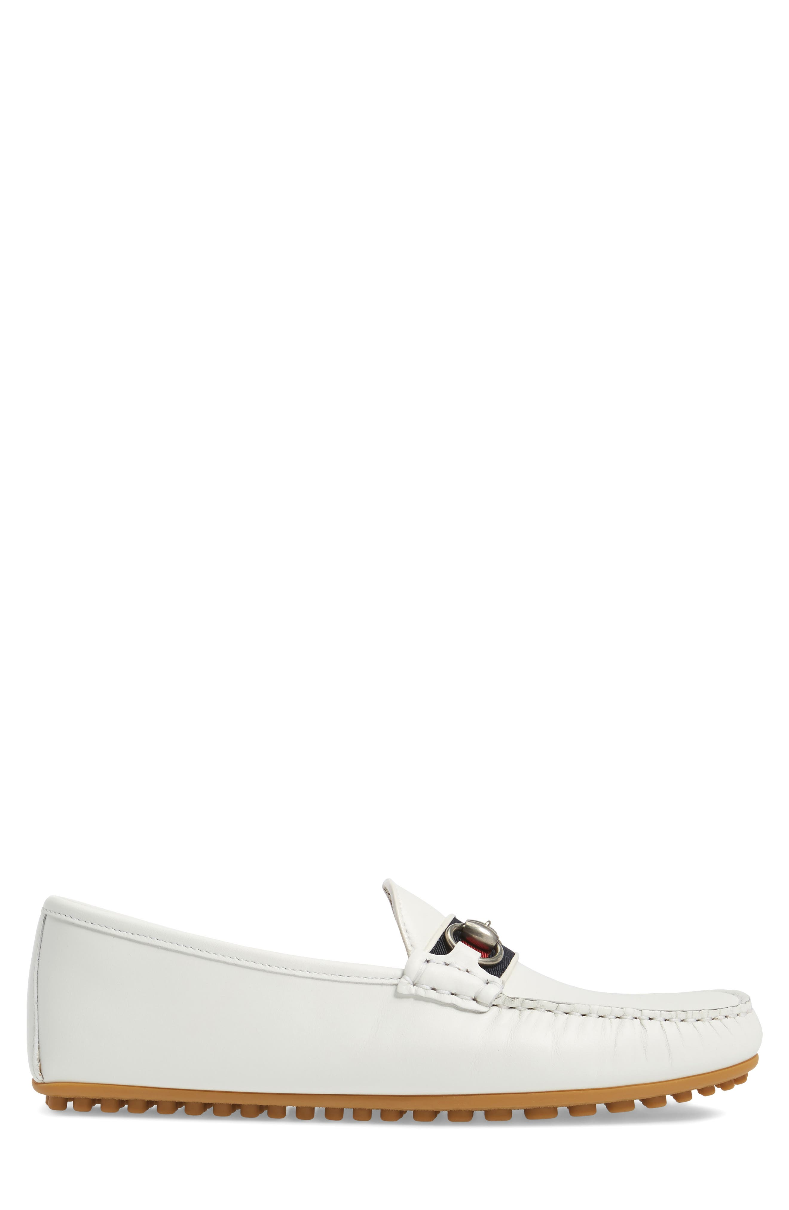 Kanye Bit Loafer,                             Alternate thumbnail 3, color,                             White Leather