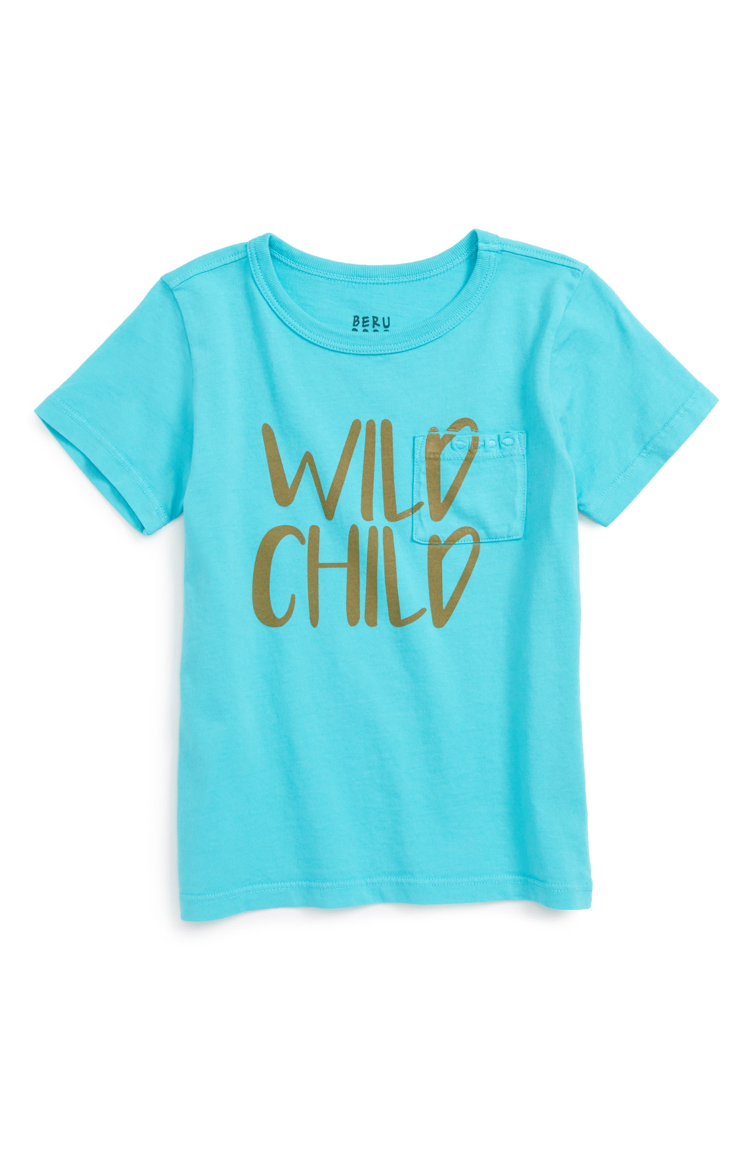 Main Image - BERU Wild Child Organic Cotton Tee (Toddler Boys & Little Boys)