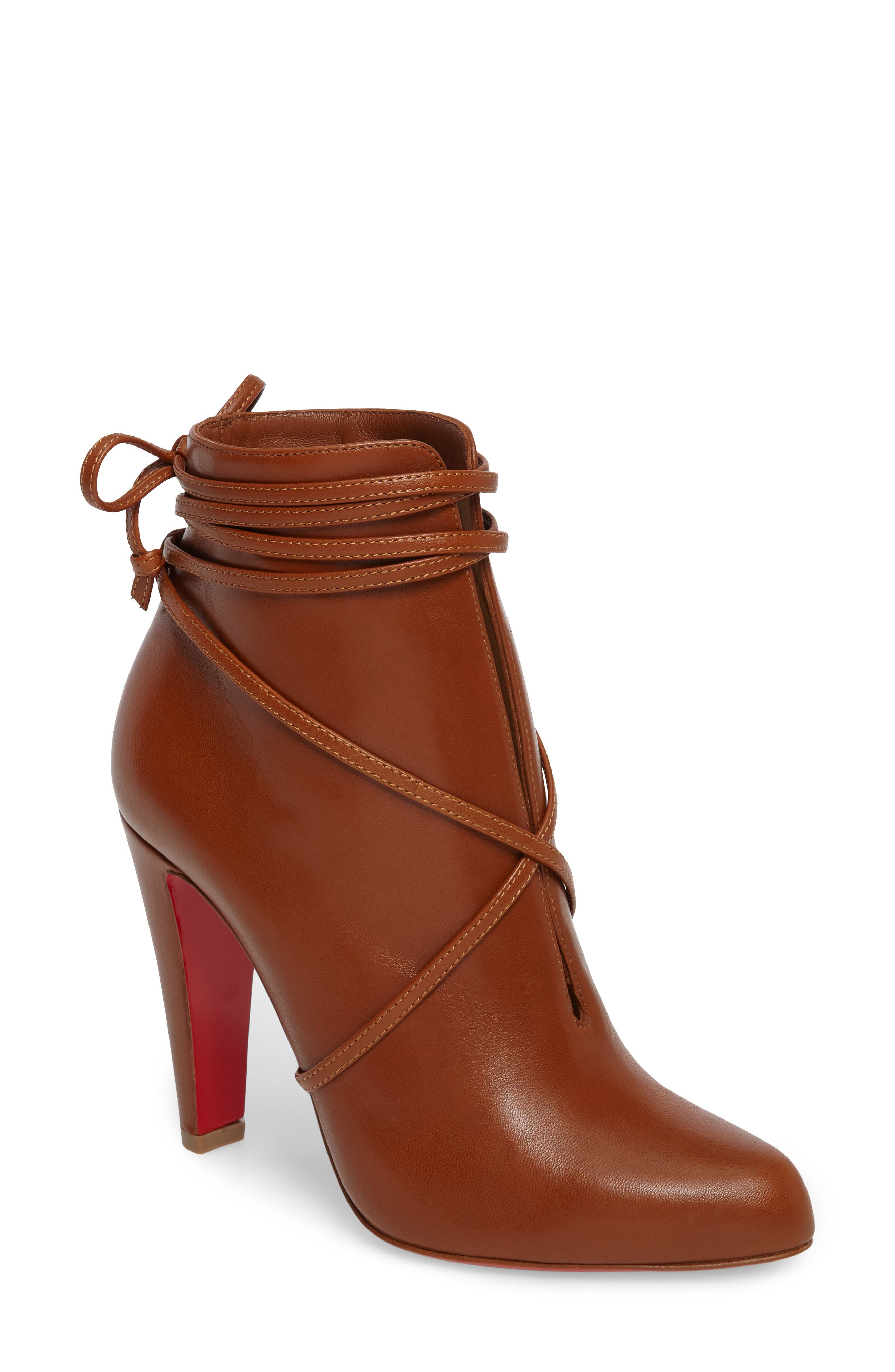 Main Image - Christian Louboutin Ankle Tie Bootie (Women)