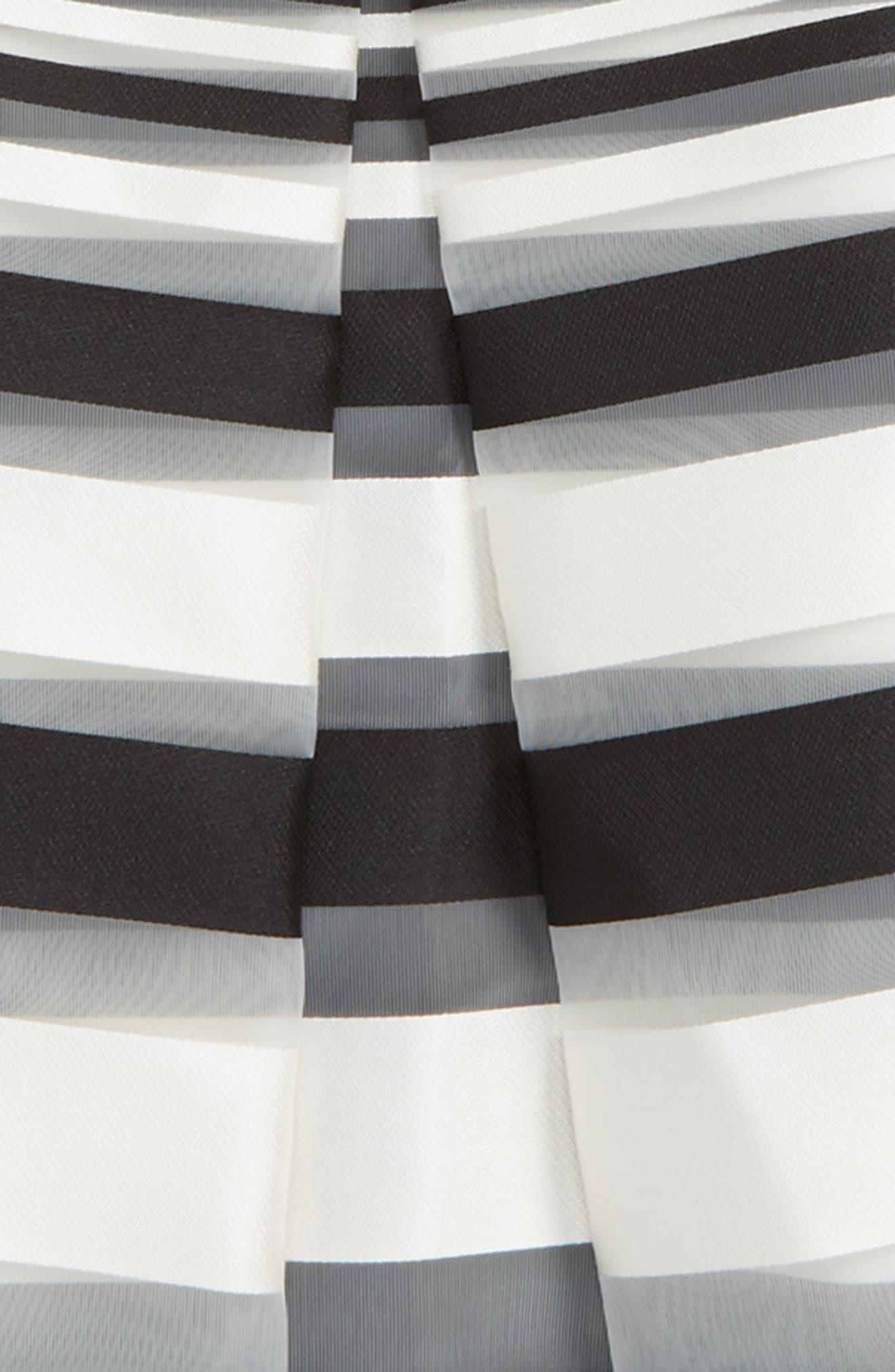 Alternate Image 2  - Milly Minis Illusion Stripe Skirt (Big Girls)