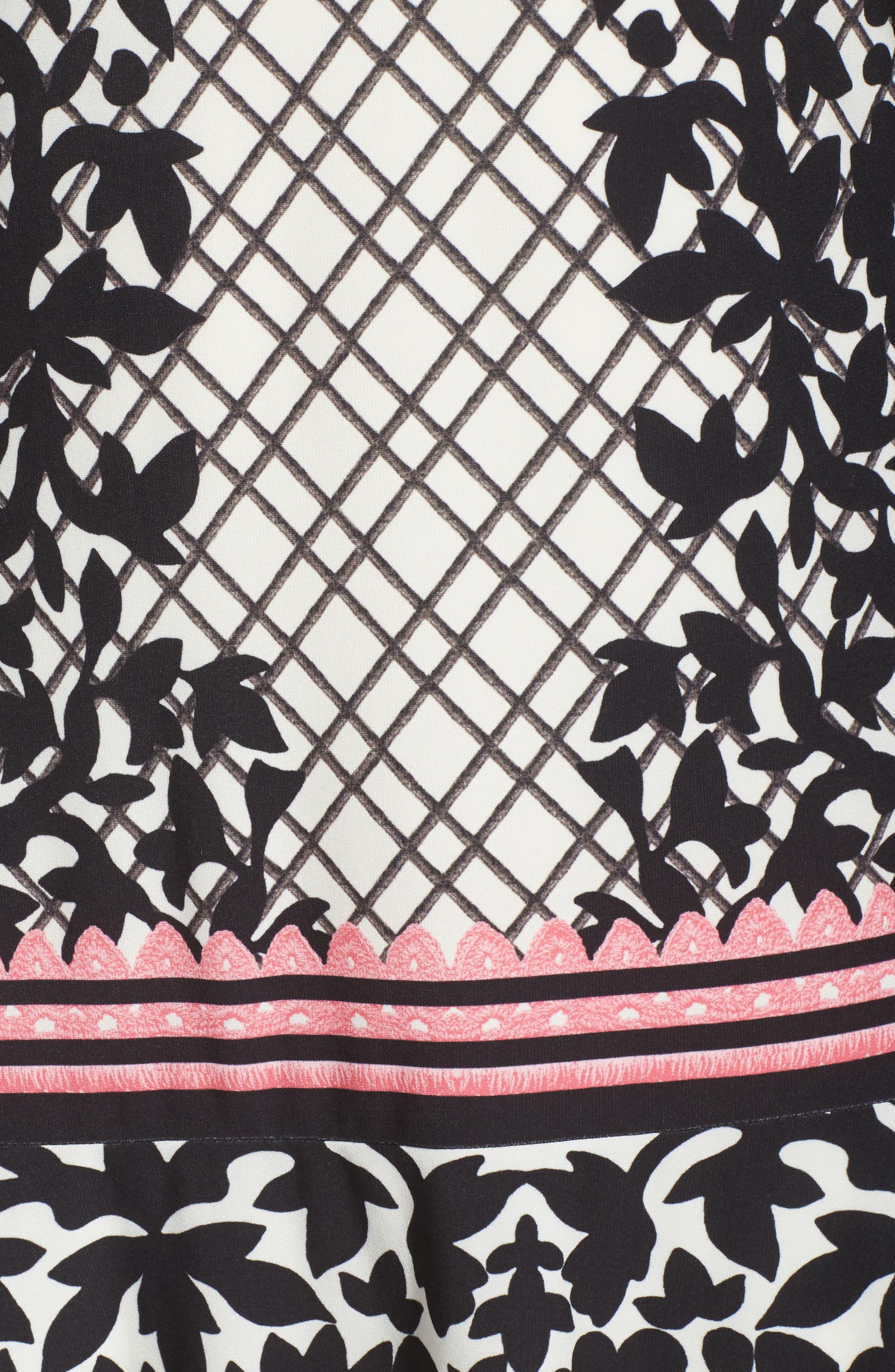 Alternate Image 6  - Eliza J Lace Trim Shift Dress (Plus Size)