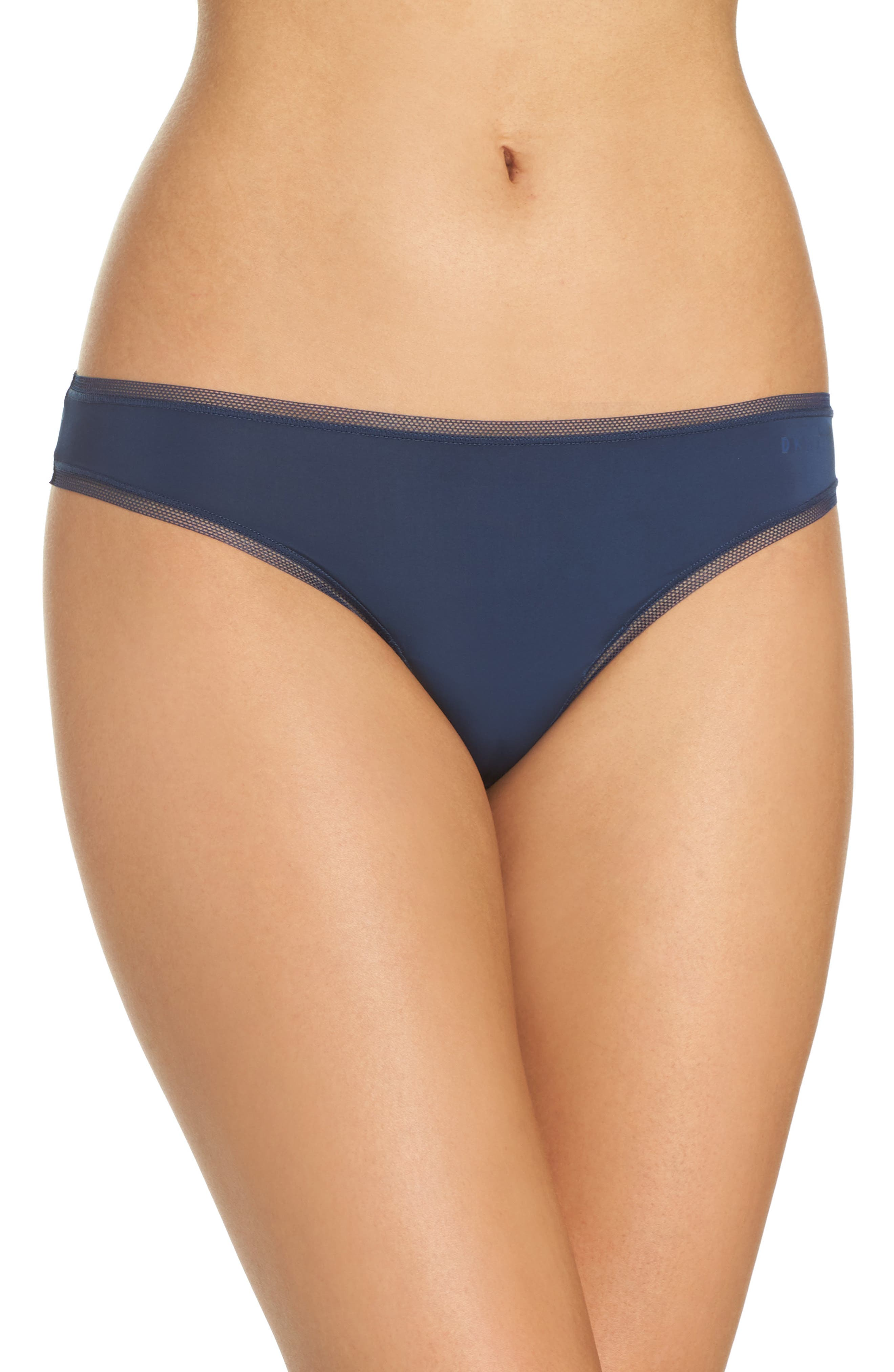 Alternate Image 1 Selected - DKNY Low Rise Thong (3 for $33)