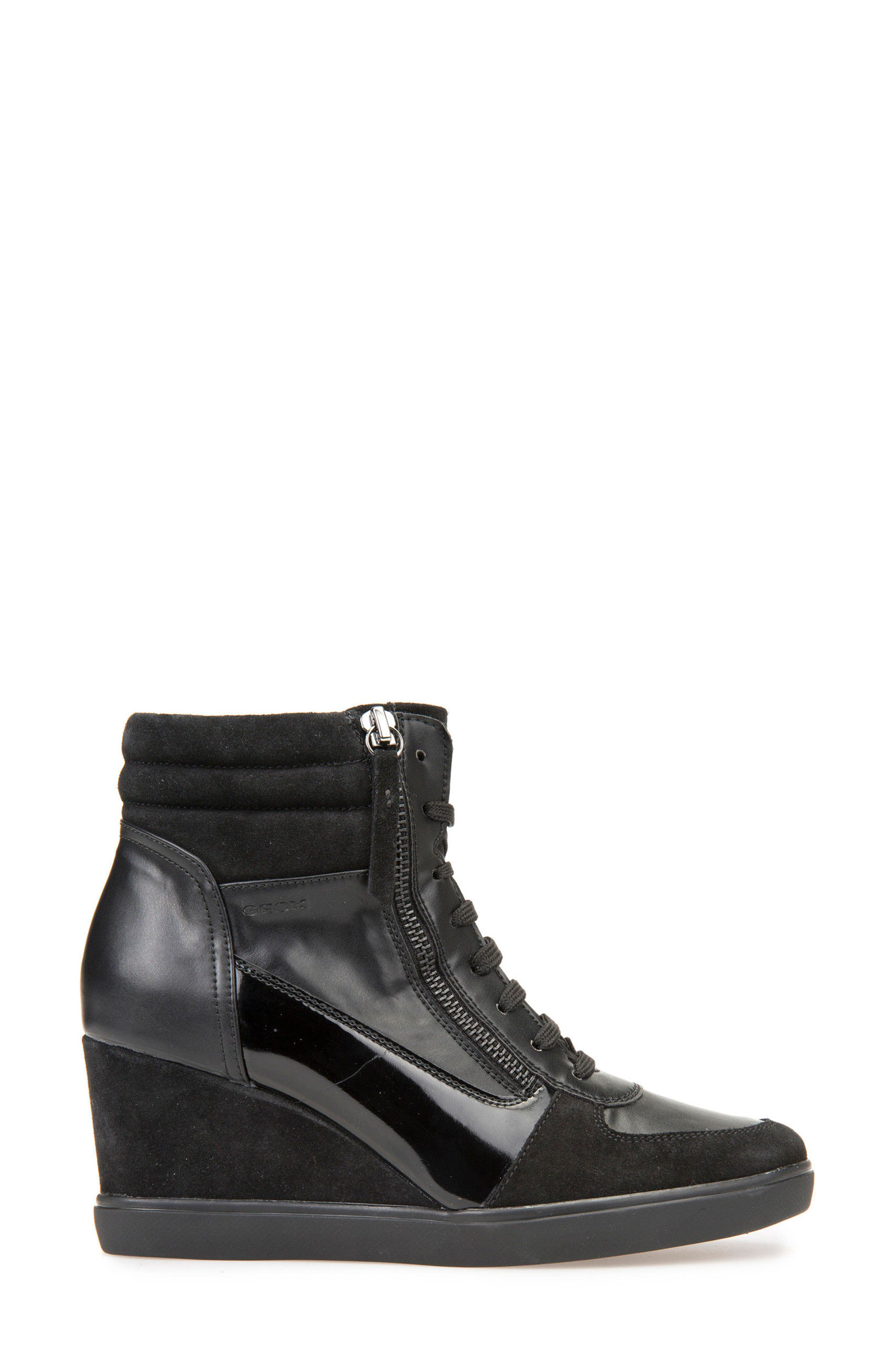 Alternate Image 3  - Geox Eleni Lace-Up Wedge Bootie (Women)