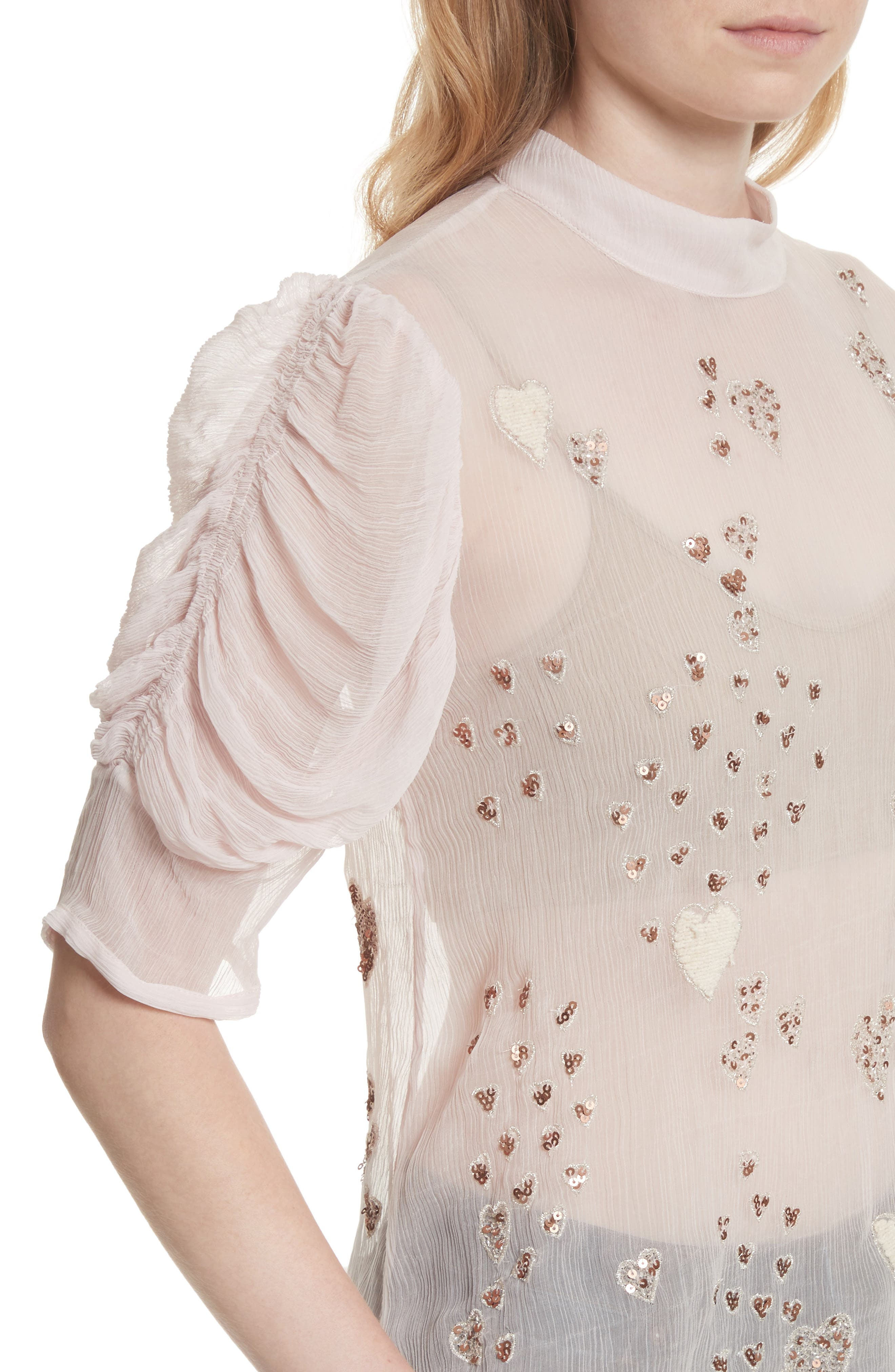 Alternate Image 4  - Free People So in Love Embroidered Blouse