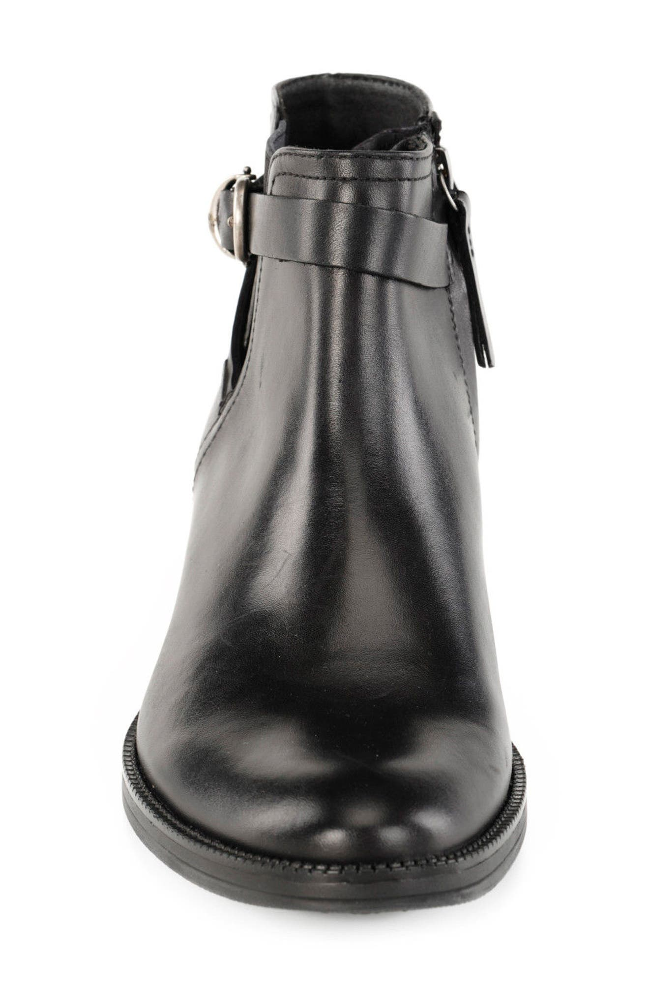 Nelisen ABX Waterproof Bootie,                             Alternate thumbnail 5, color,                             Black Leather