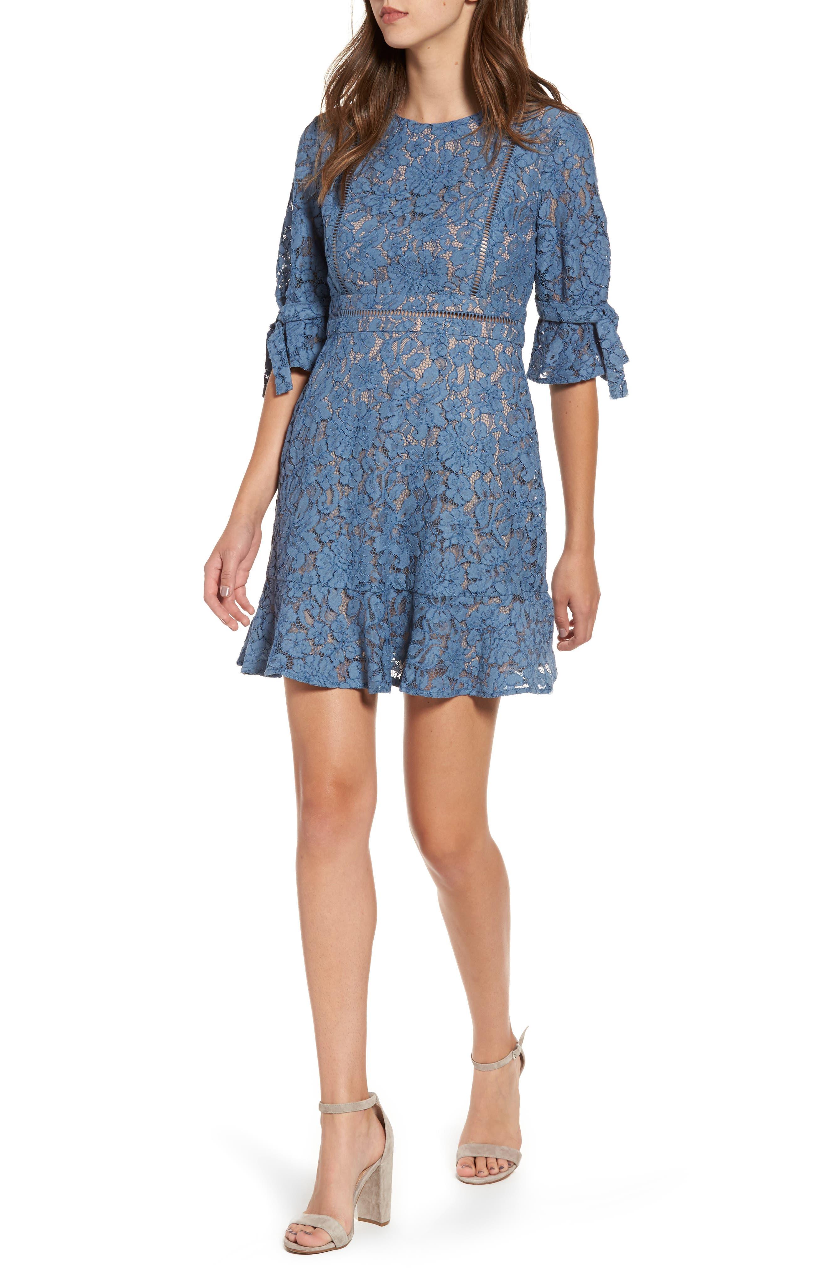 Main Image - WAYF Rene Lace Fit & Flare Dress