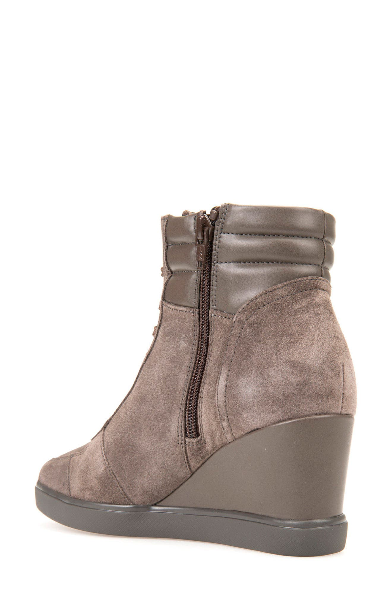 Alternate Image 2  - Geox Eleni Lace-Up Wedge Bootie (Women)