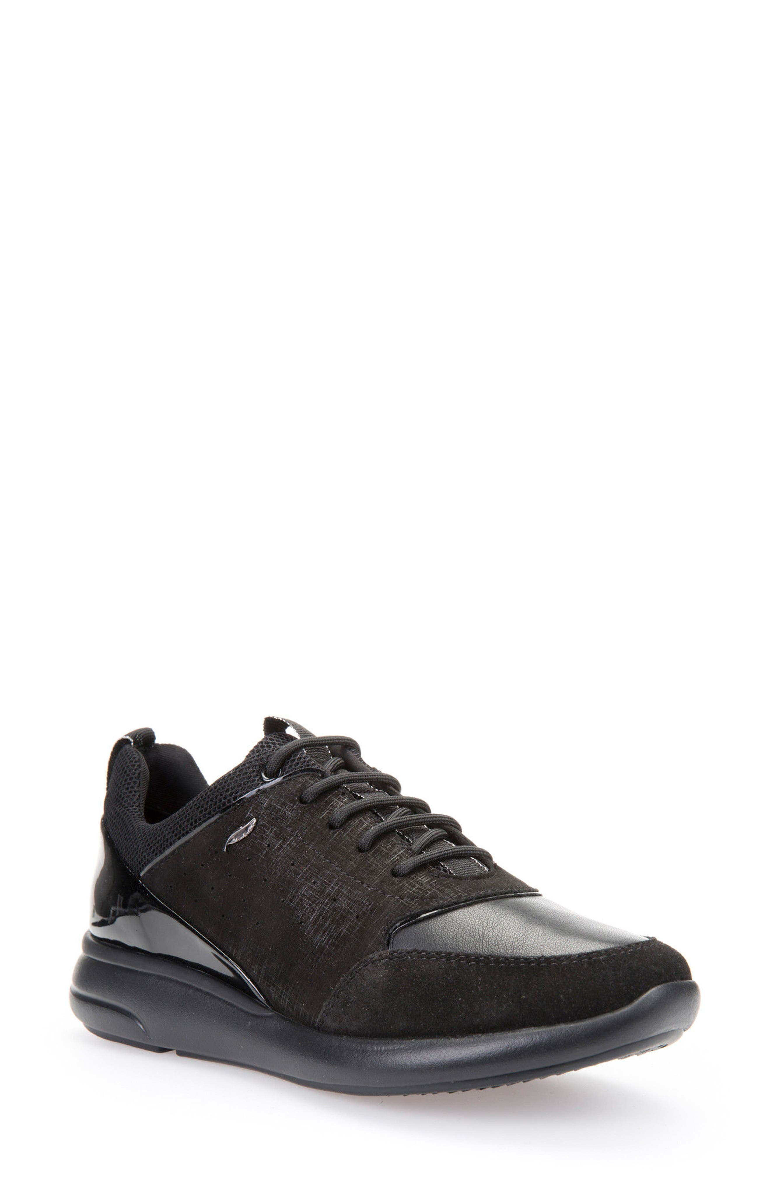 Ophira Sneaker,                         Main,                         color, Black Patent Leather