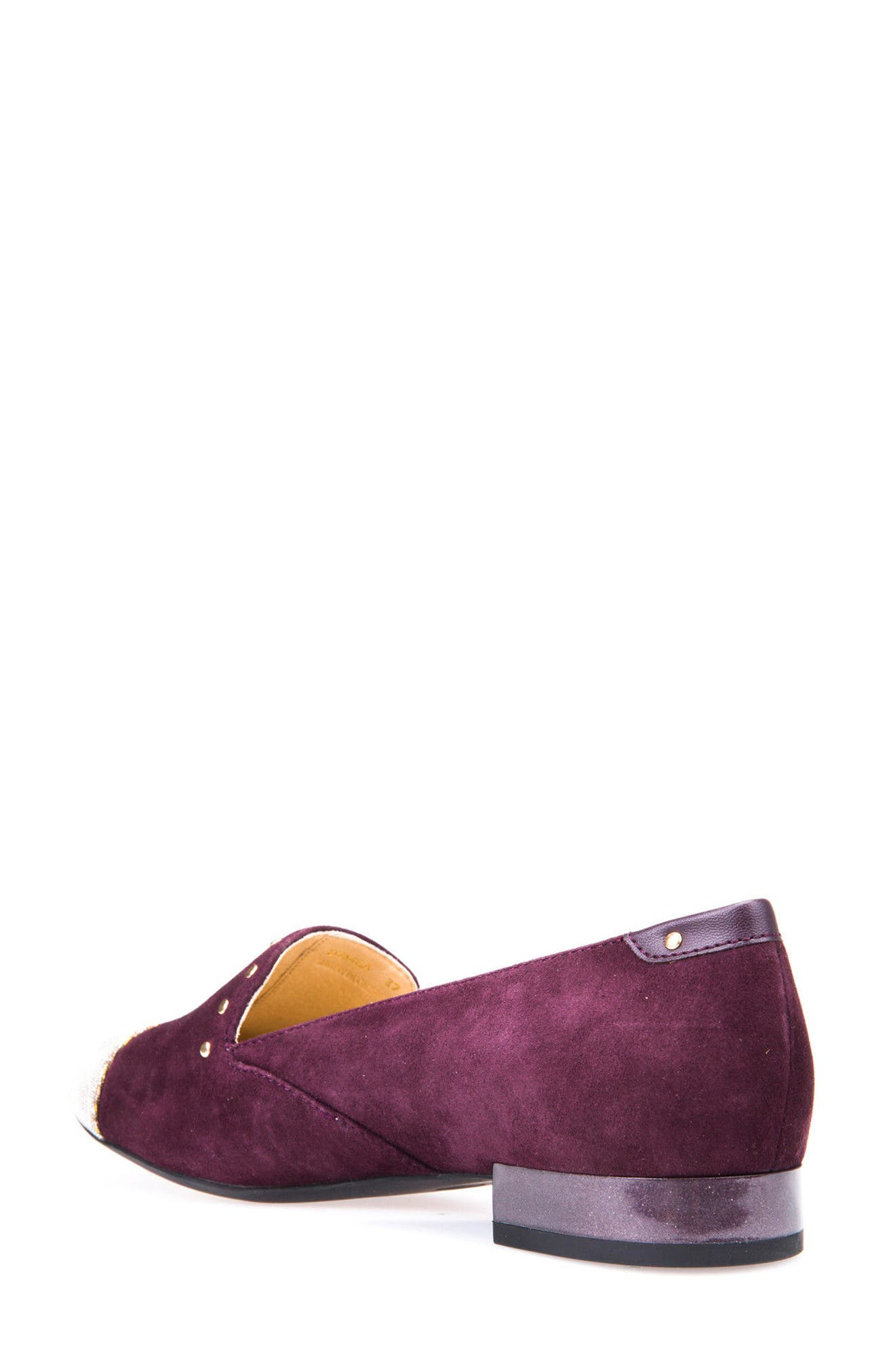 Wistrey Cap Toe Loafer,                             Alternate thumbnail 2, color,                             Light Prune Suede