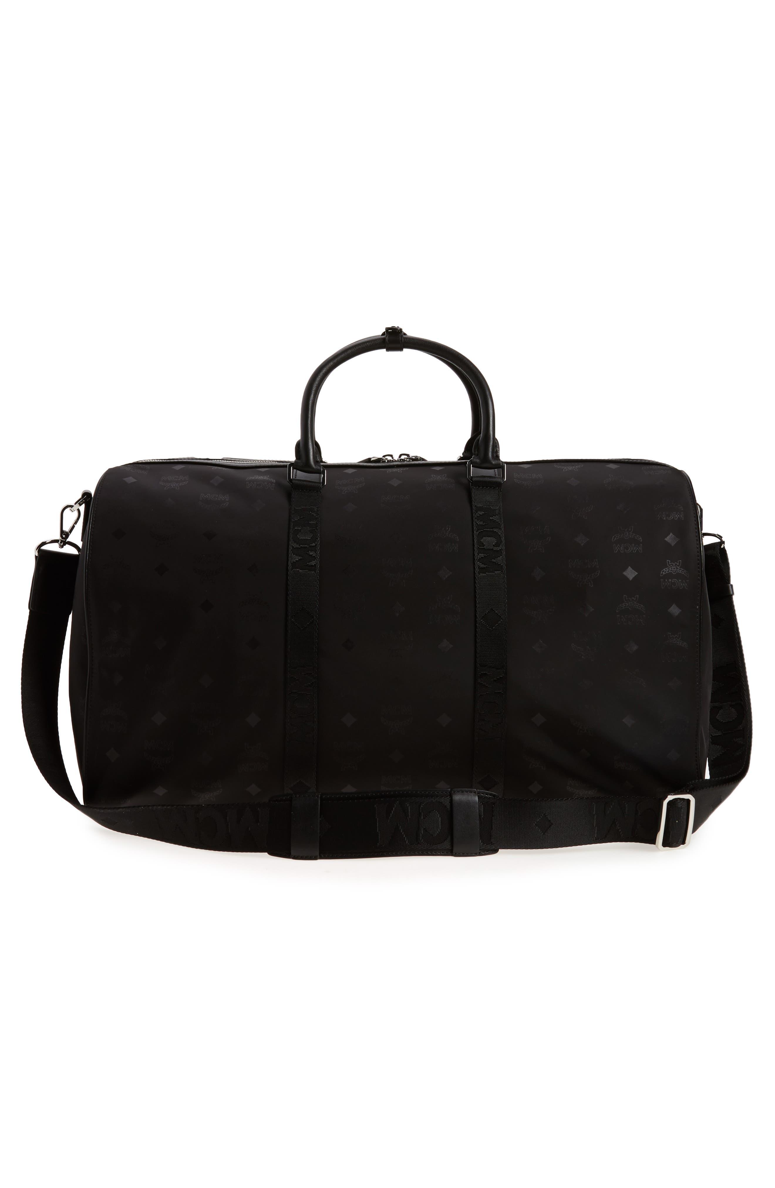 Alternate Image 3  - MCM Logo Nylon Duffel Bag