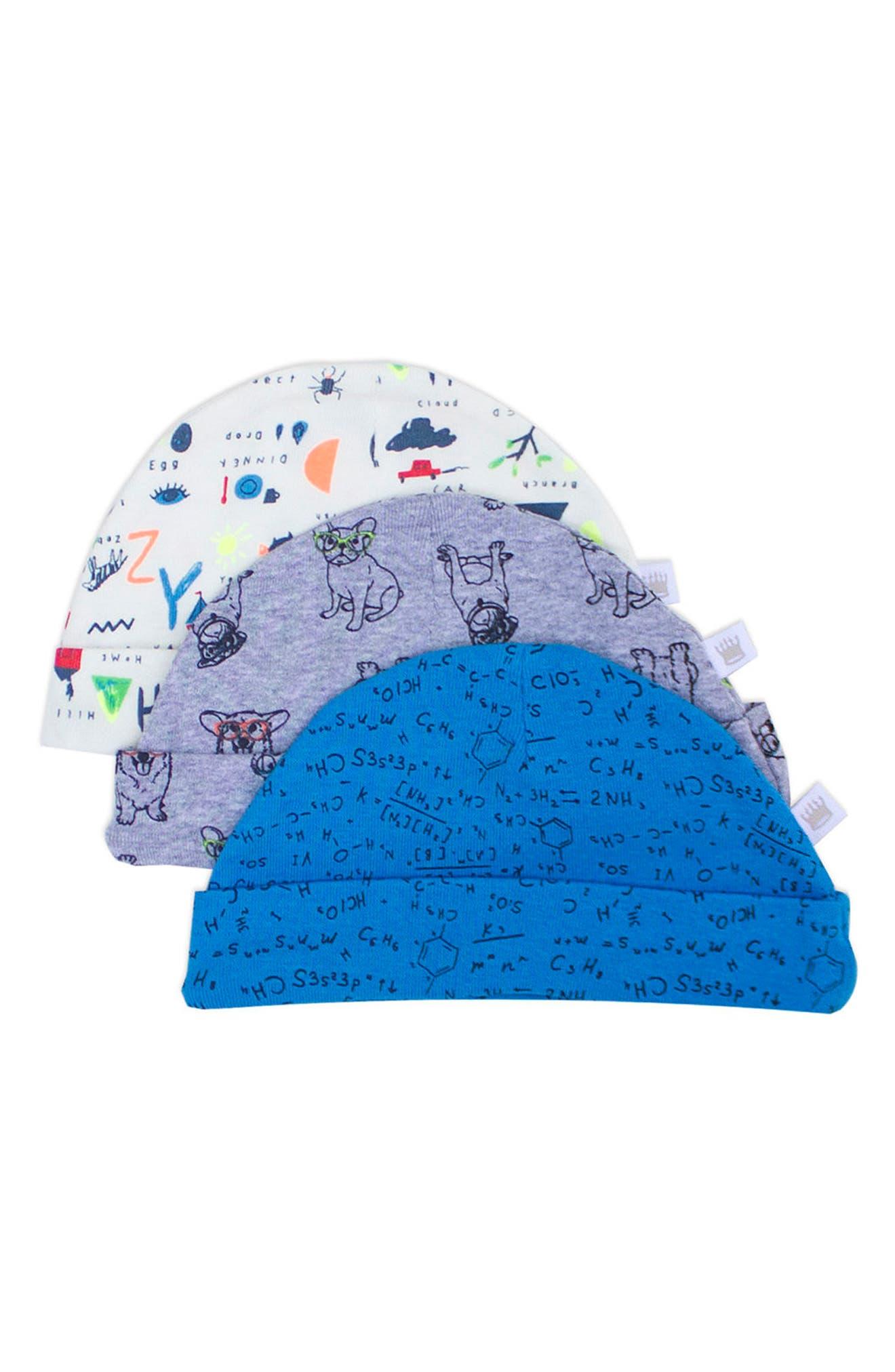 Main Image - Rosie Pope 3-Pack Nerd Alert Hats Set (Baby)