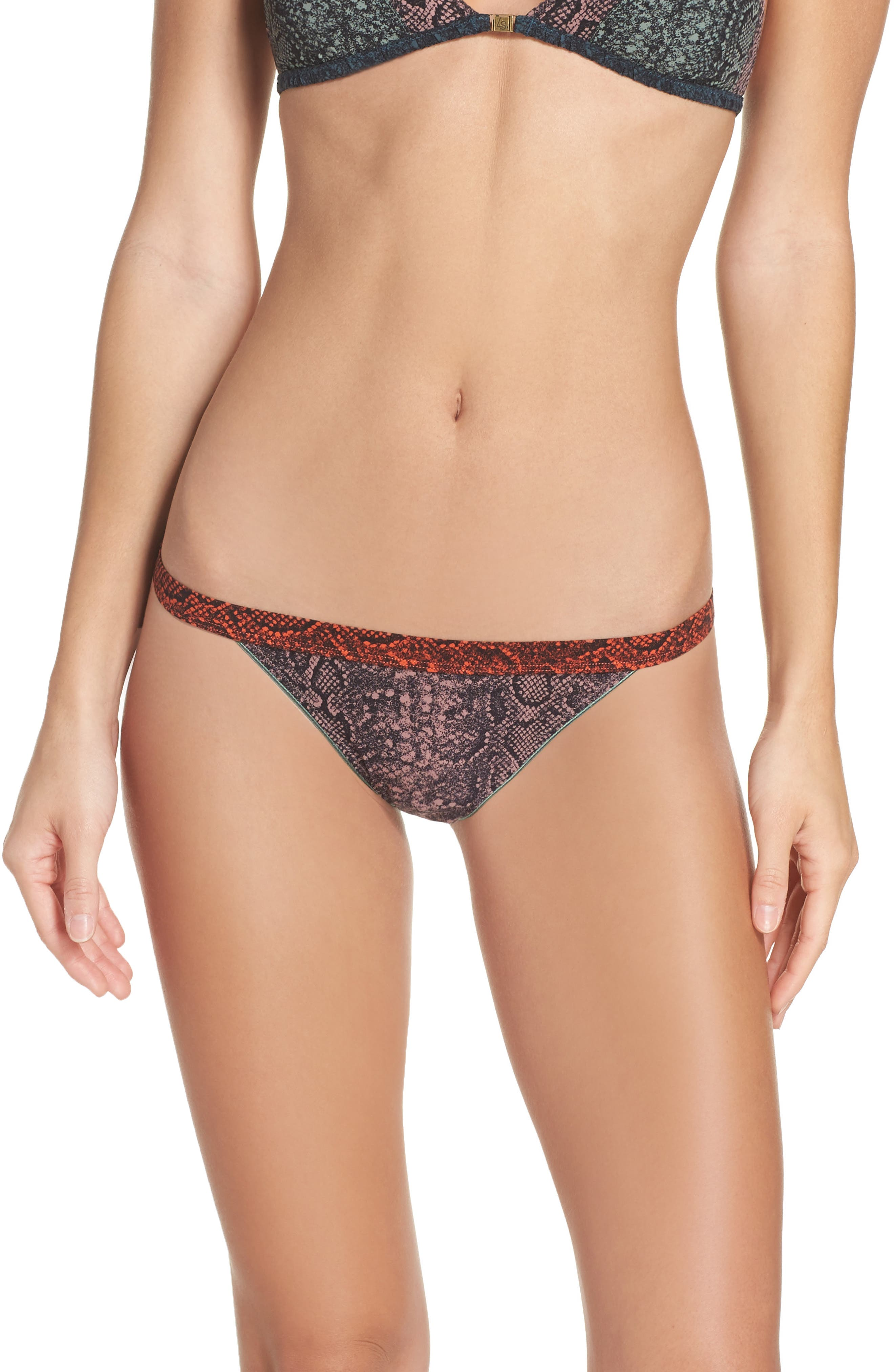 Wild Rose Lace Bikini,                             Main thumbnail 1, color,                             Snake Grape Shake