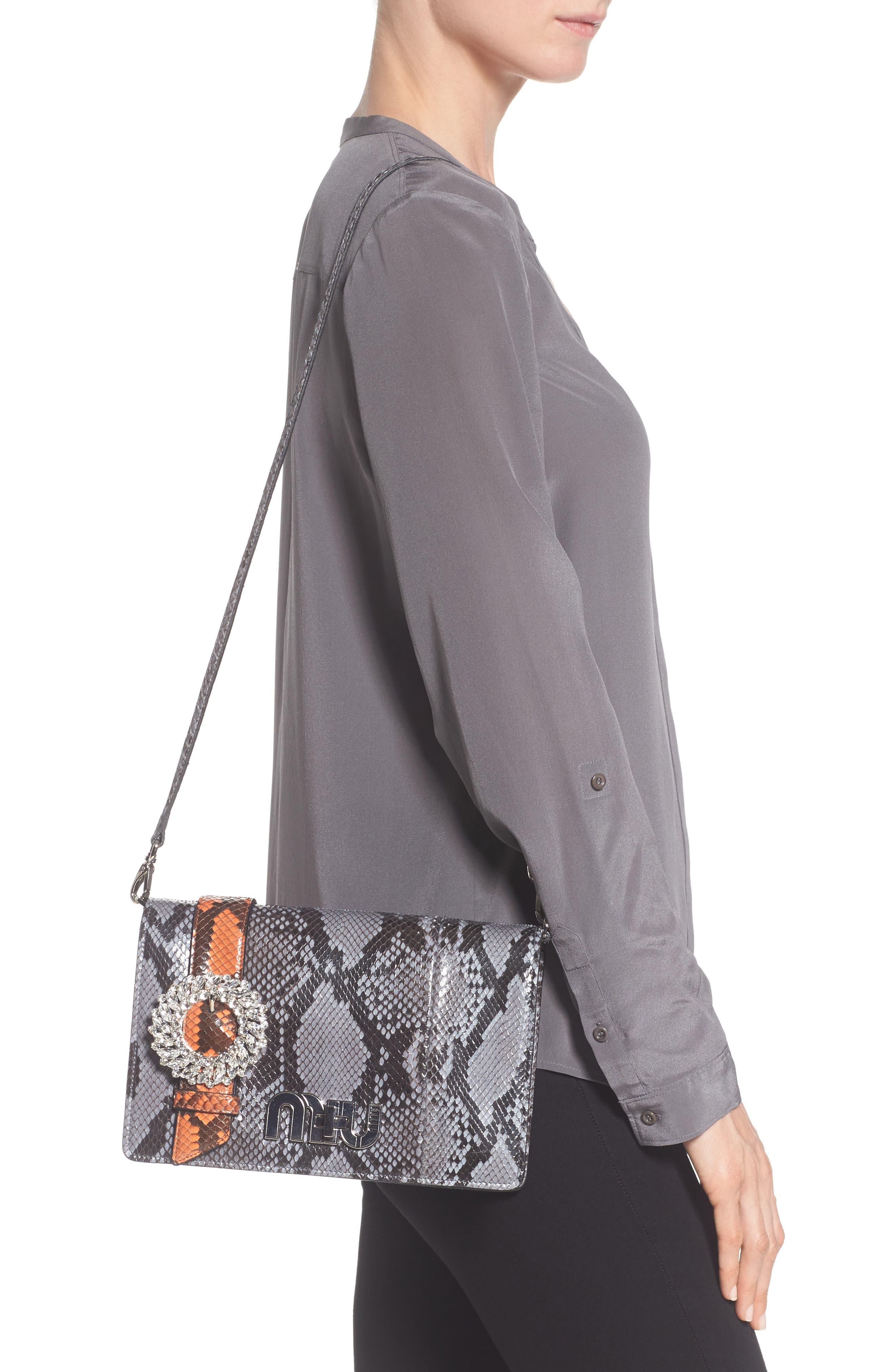 Alternate Image 2  - Miu Miu Genuine Python Shoulder Bag