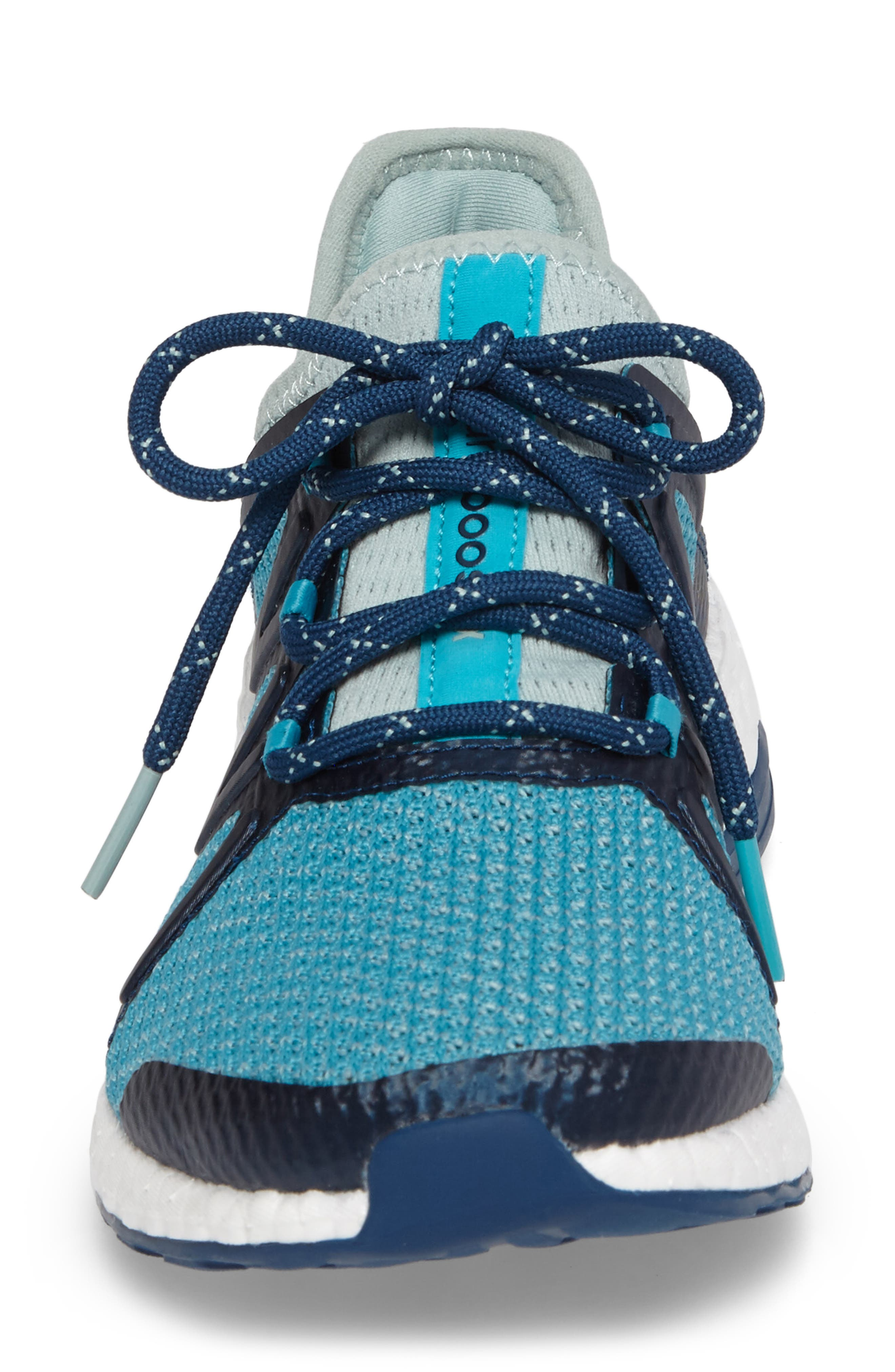PureBOOST Xpose Running Shoe,                             Alternate thumbnail 2, color,                             Tactile Green/ Energy Blue