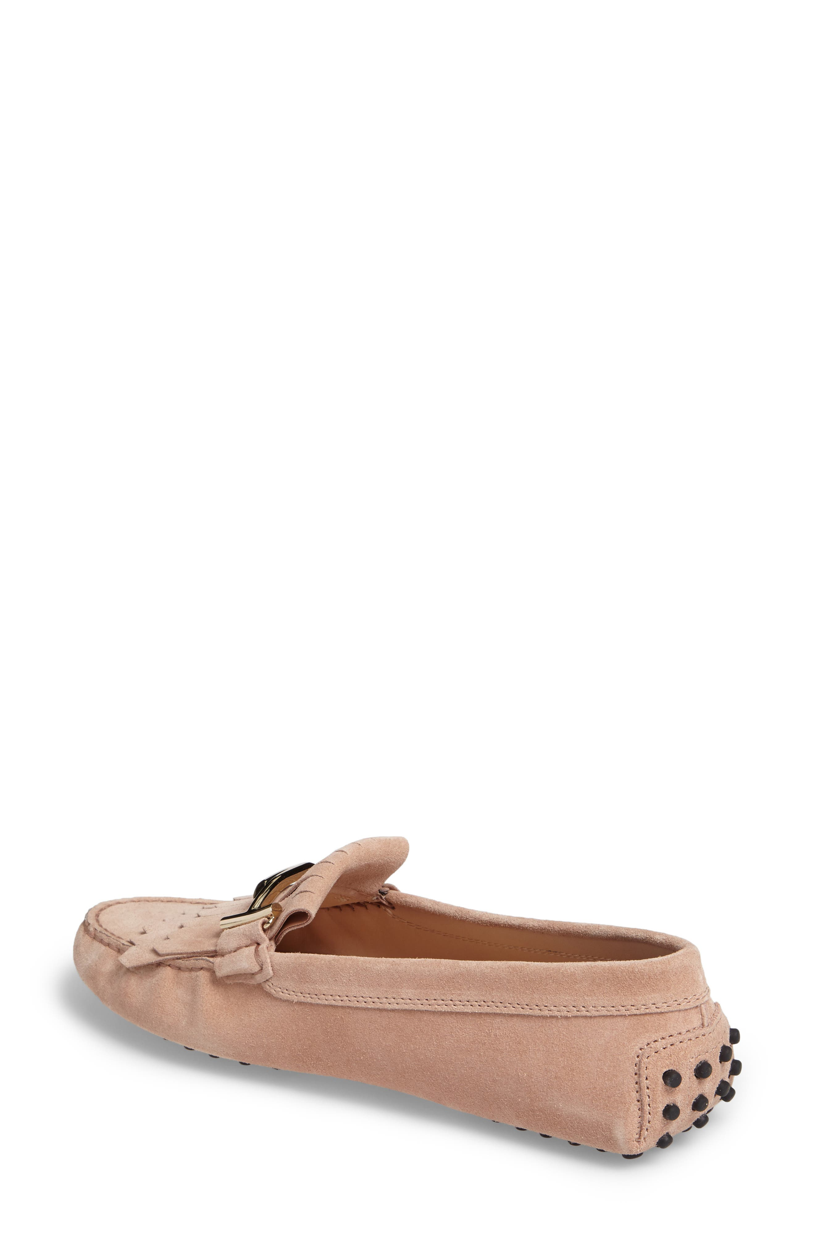 Double T Fringe Gommino Loafer,                             Alternate thumbnail 2, color,                             Cheek Beige