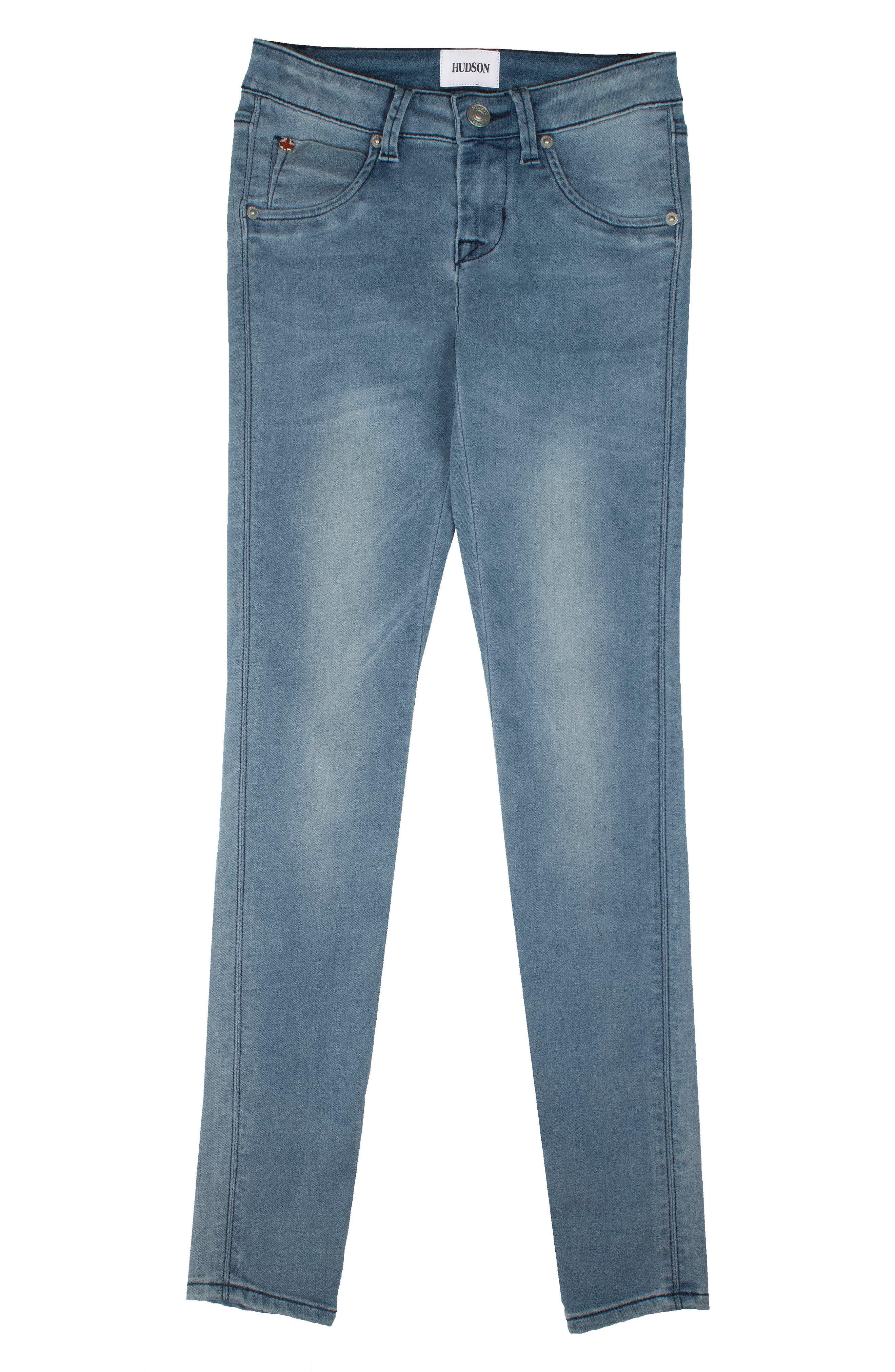 Alternate Image 1 Selected - Hudson Kids Collin Flap Pocket Skinny Jeans (Toddler Girls & Little Girls)