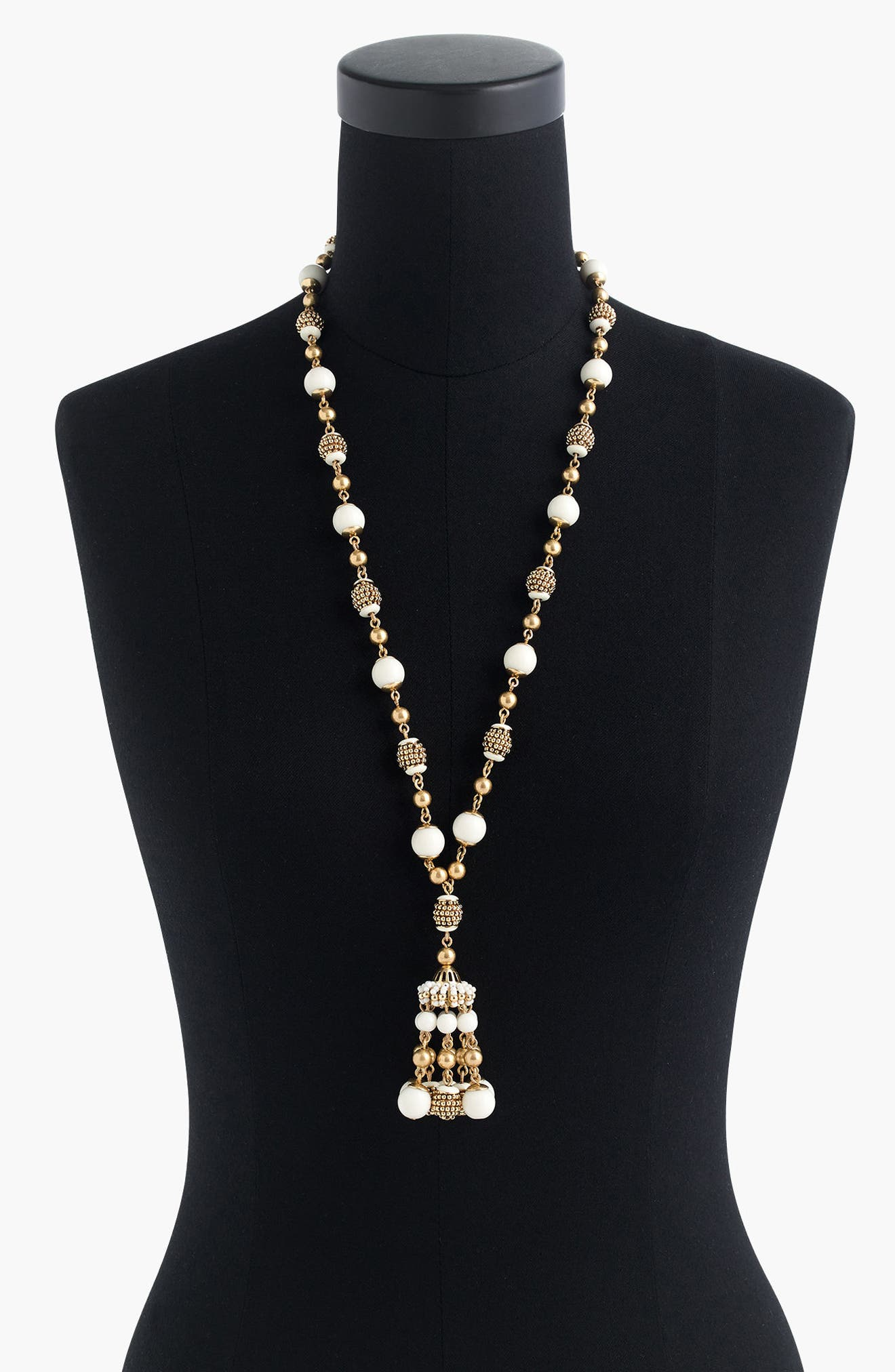 J.Crew Beaded Drop Necklace