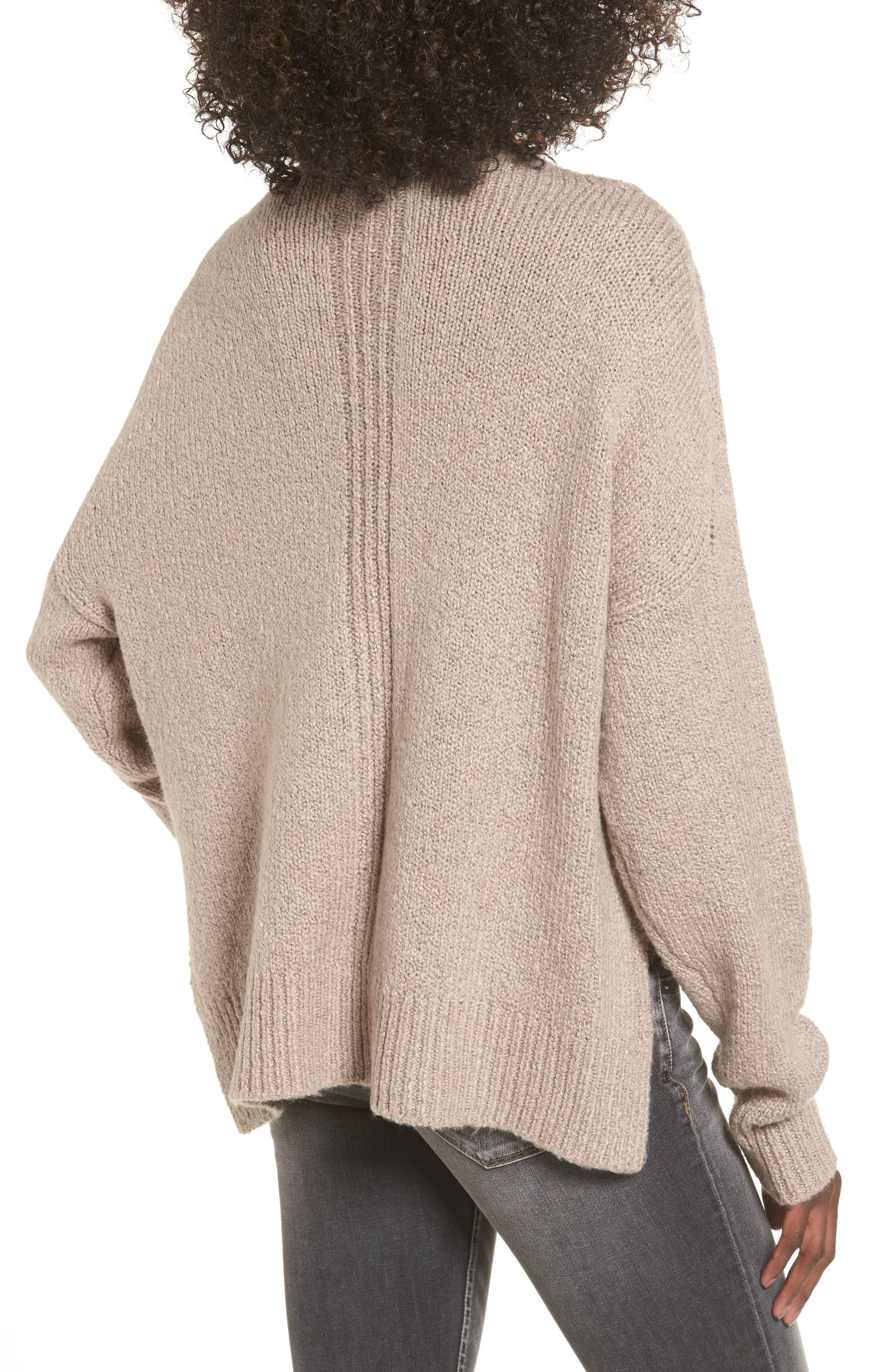 Alternate Image 2  - Leith Fuzzy Side Slit Sweater
