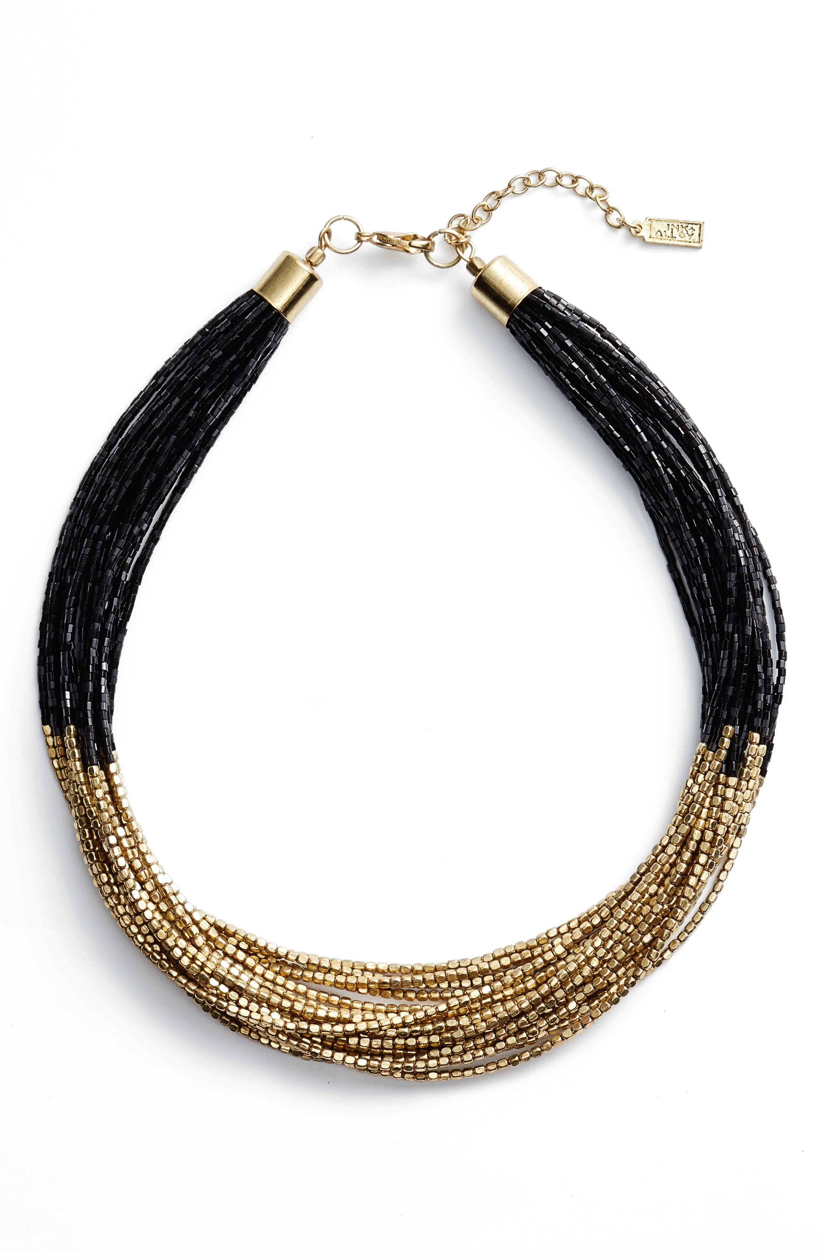 Priya Multistrand Collar Necklace,                             Main thumbnail 1, color,                             Antique Gold