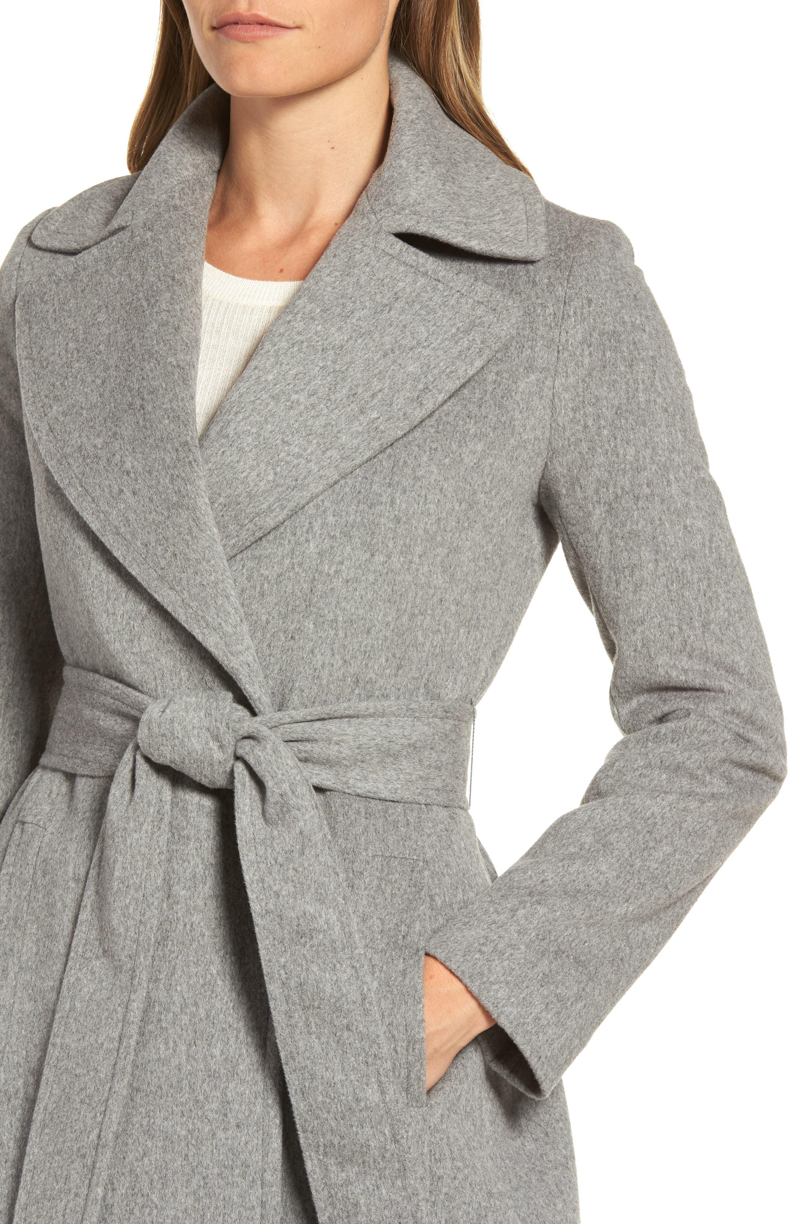 Alternate Image 4  - Fleurette Wool Wrap Coat (Regular & Petite)