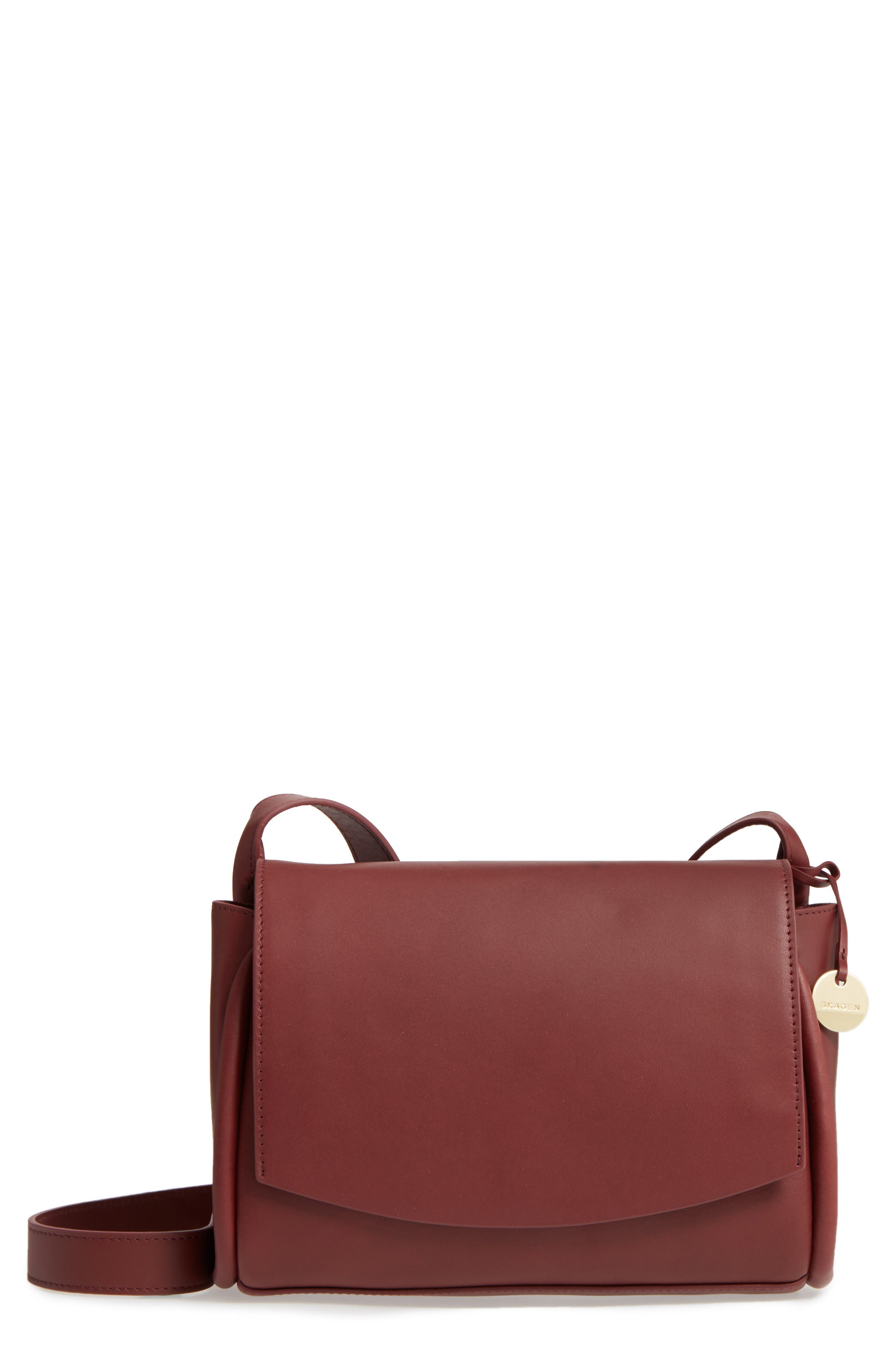 Alternate Image 1 Selected - Skagen Sylvi Leather Crossbody Bag