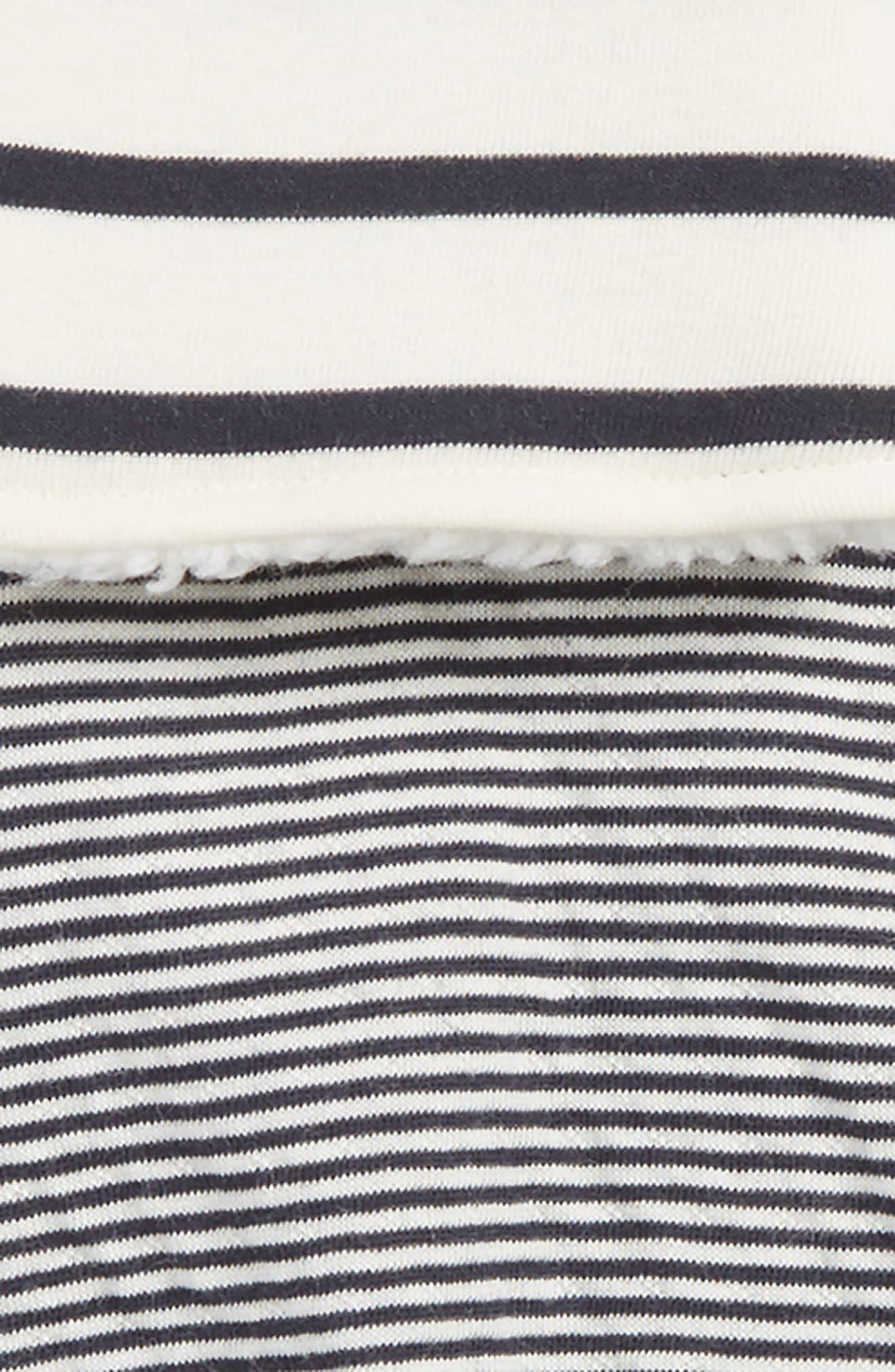 Alternate Image 2  - Petit Bateau Stripe Vest, Tee & Leggings Set (Baby)
