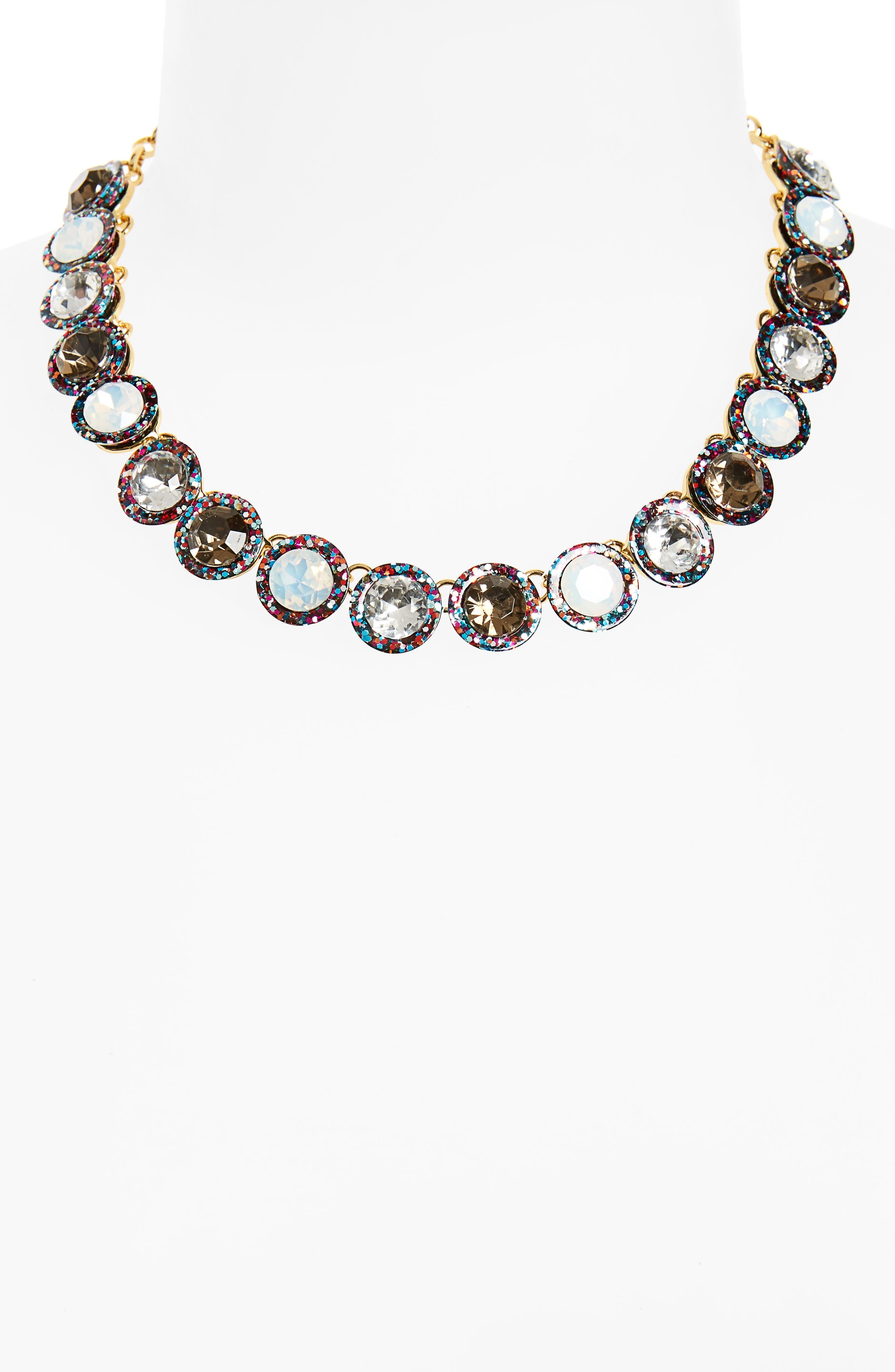 Jewel Collar Necklace,                             Alternate thumbnail 2, color,                             Black