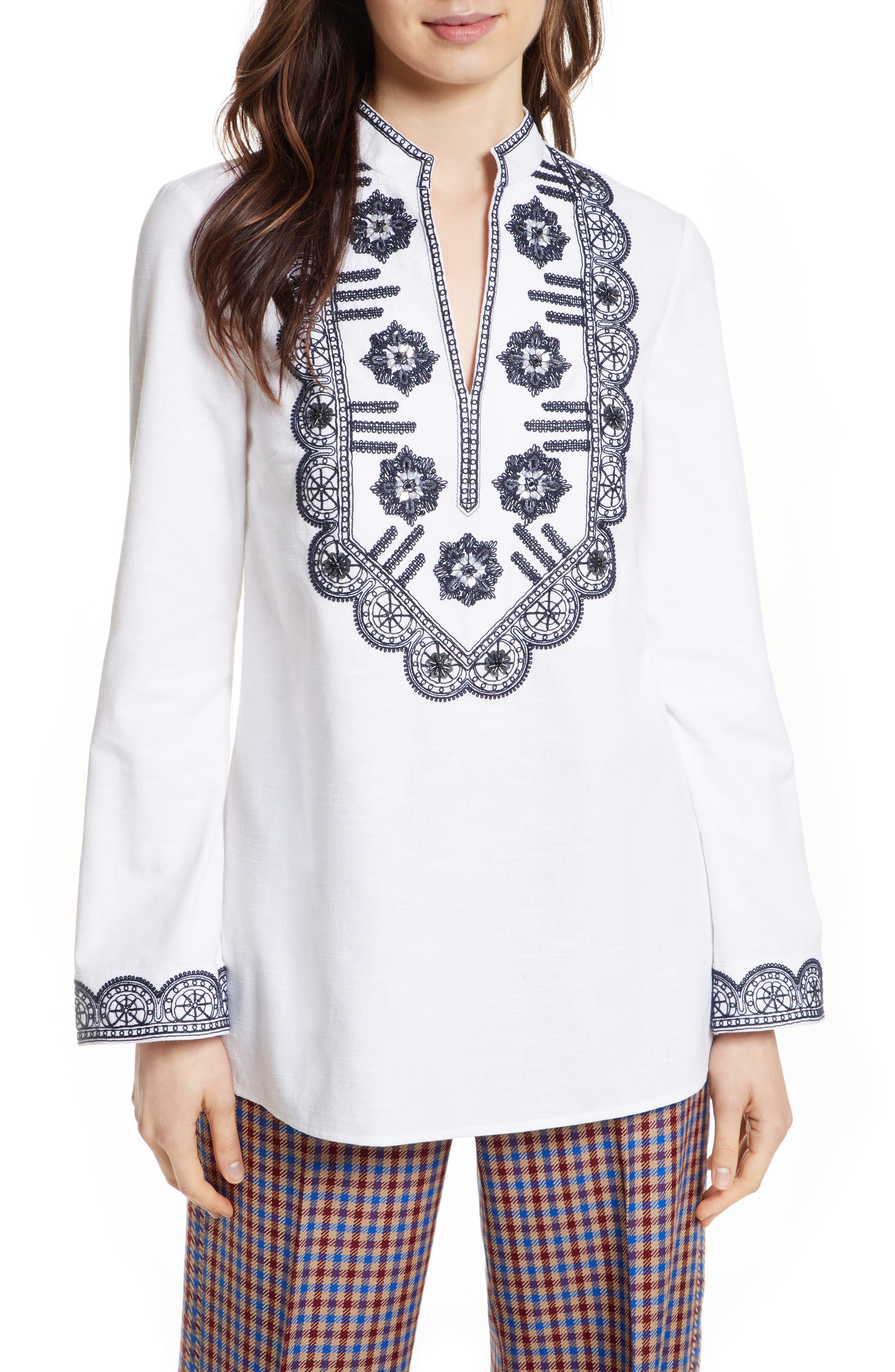 Embellished Tunic,                         Main,                         color, White