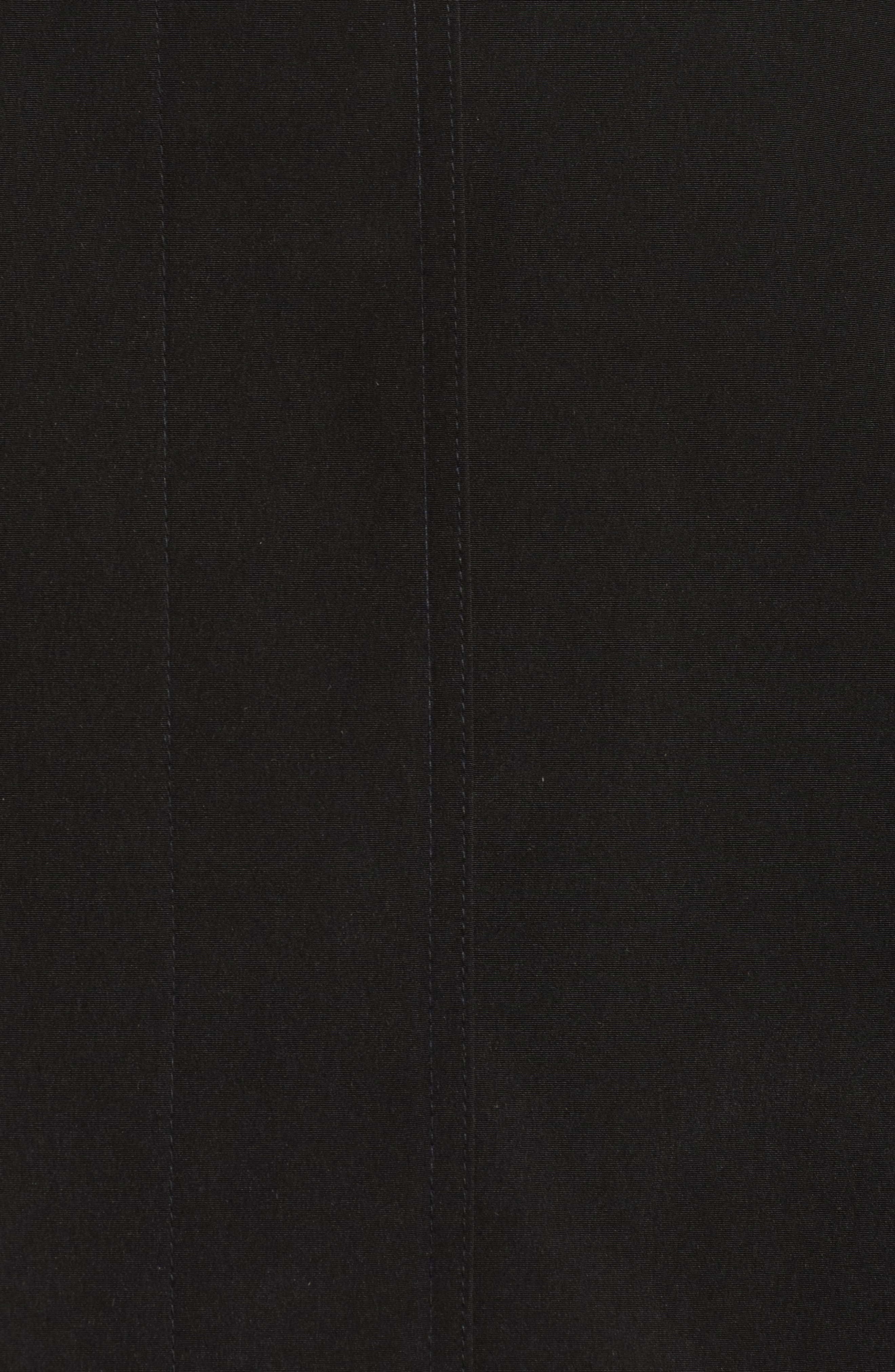 Alternate Image 5  - Gallery Long Silk Look Raincoat (Plus Size)