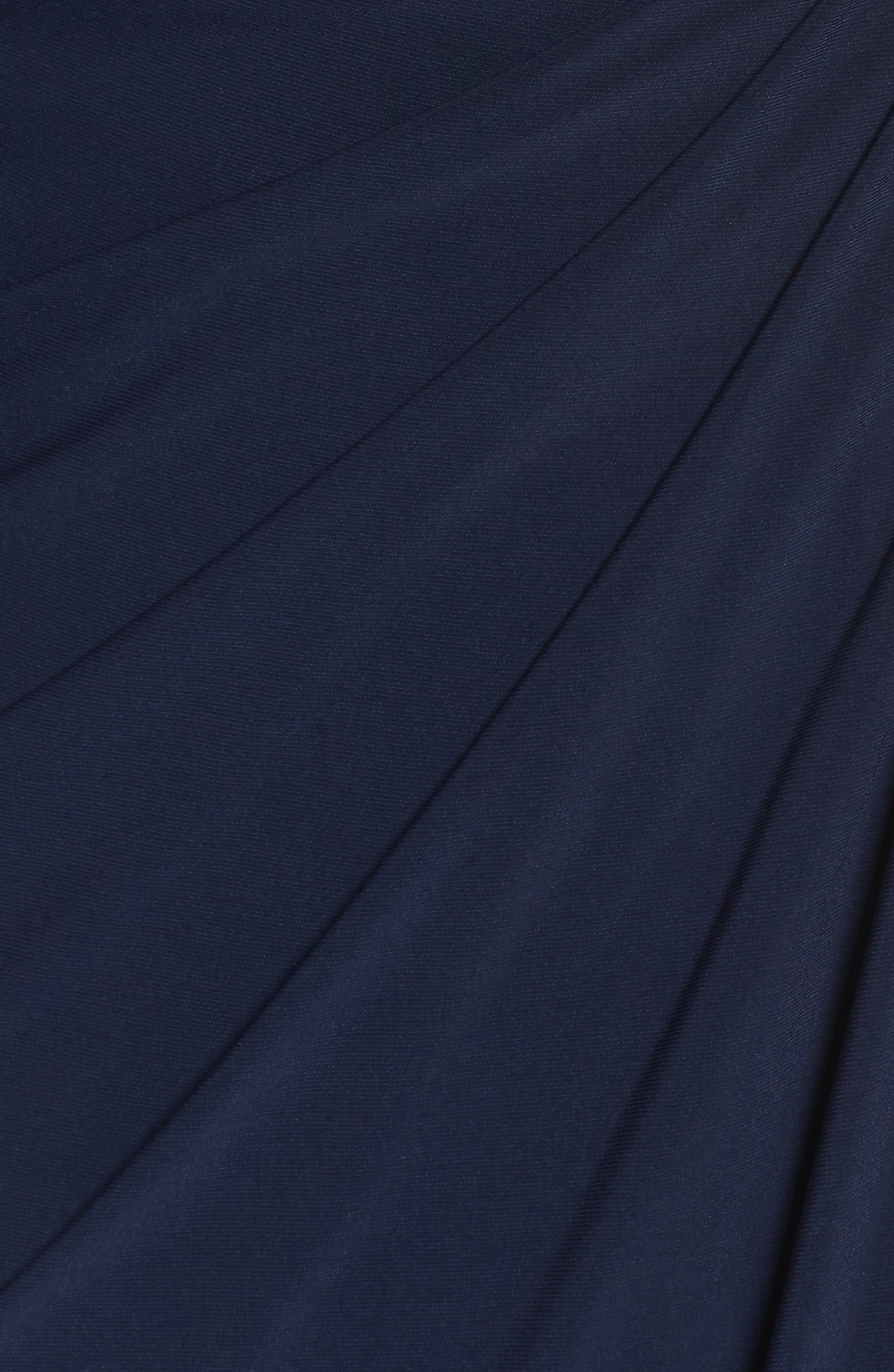 Wrap Front Jersey Gown,                             Alternate thumbnail 5, color,                             Midnight