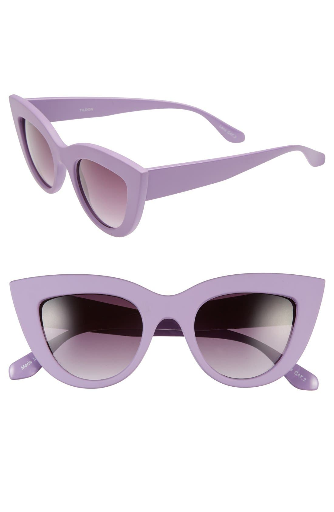 42mm Cat Eye Sunglasses,                             Main thumbnail 1, color,                             Purple