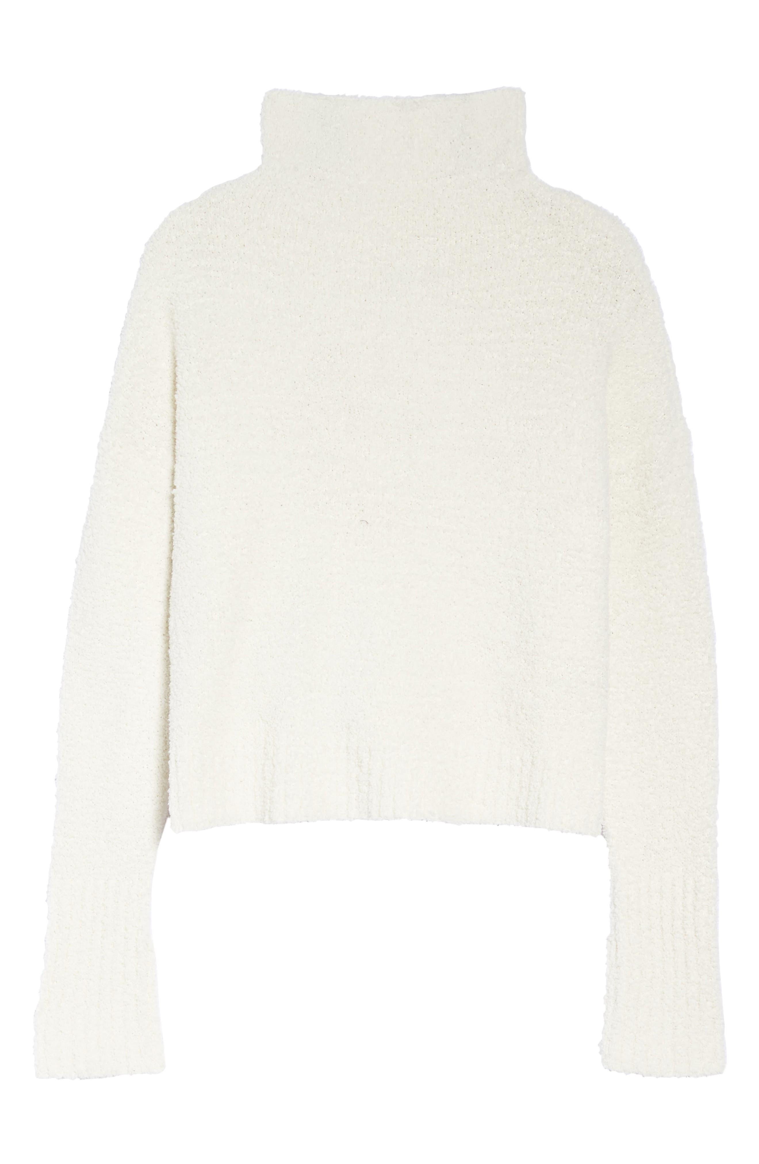 Sage Cowl Neck Pullover,                             Alternate thumbnail 4, color,                             Cream