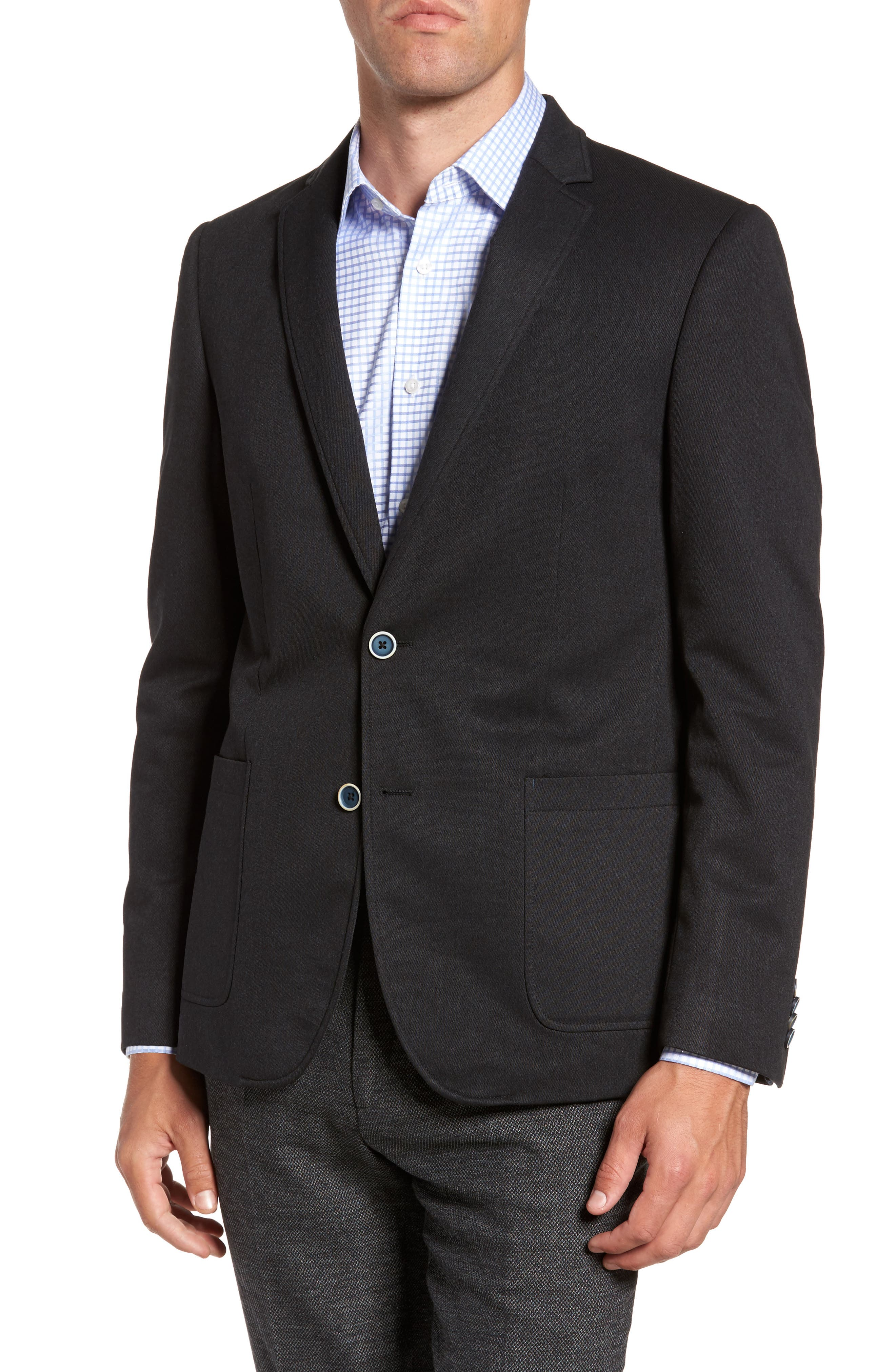 Broderick Technical Outerwear Jacket with Detachable Knit Bib,                             Alternate thumbnail 4, color,                             Navy