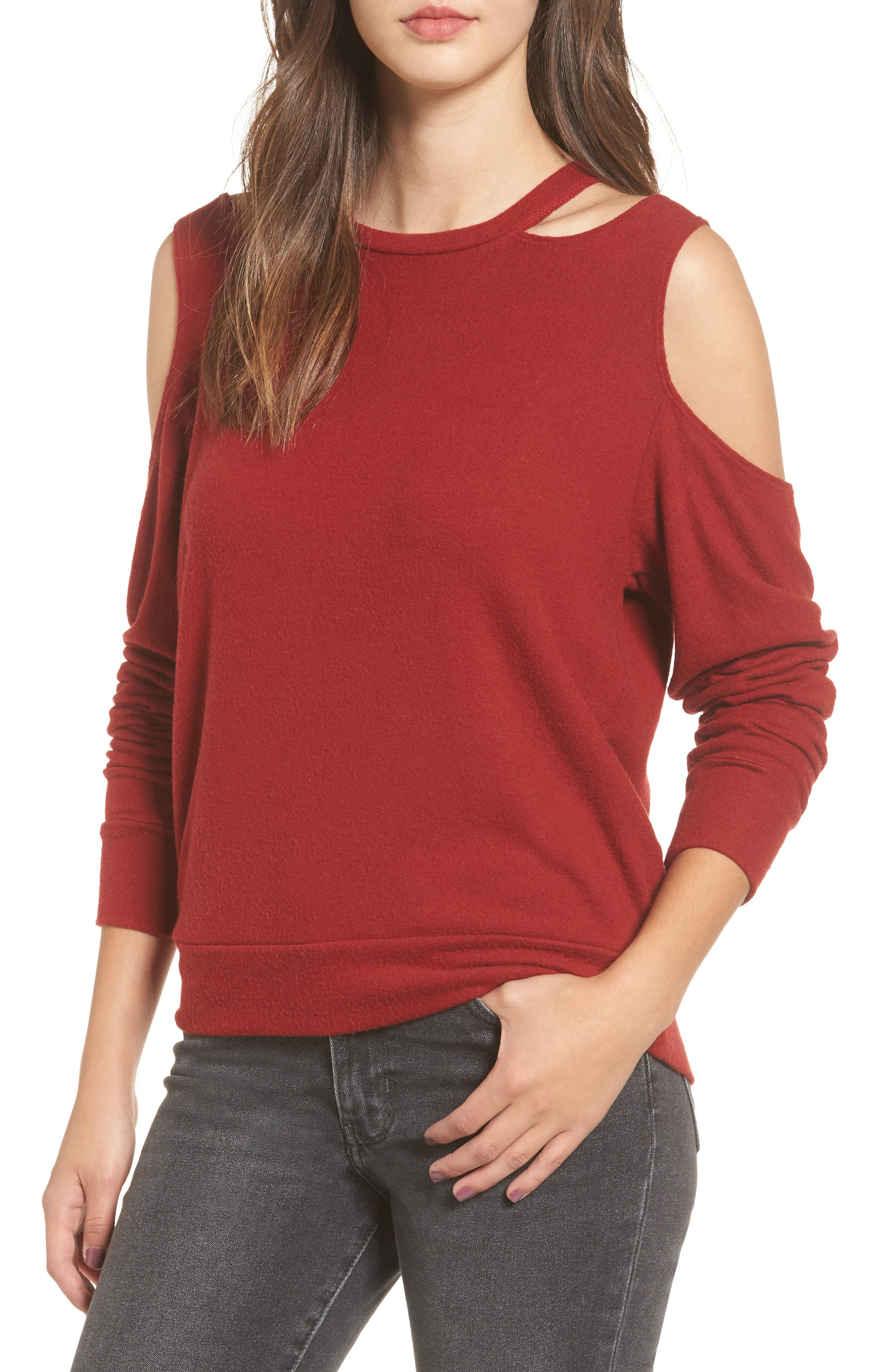LNA Earl Cold Shoulder Sweatshirt