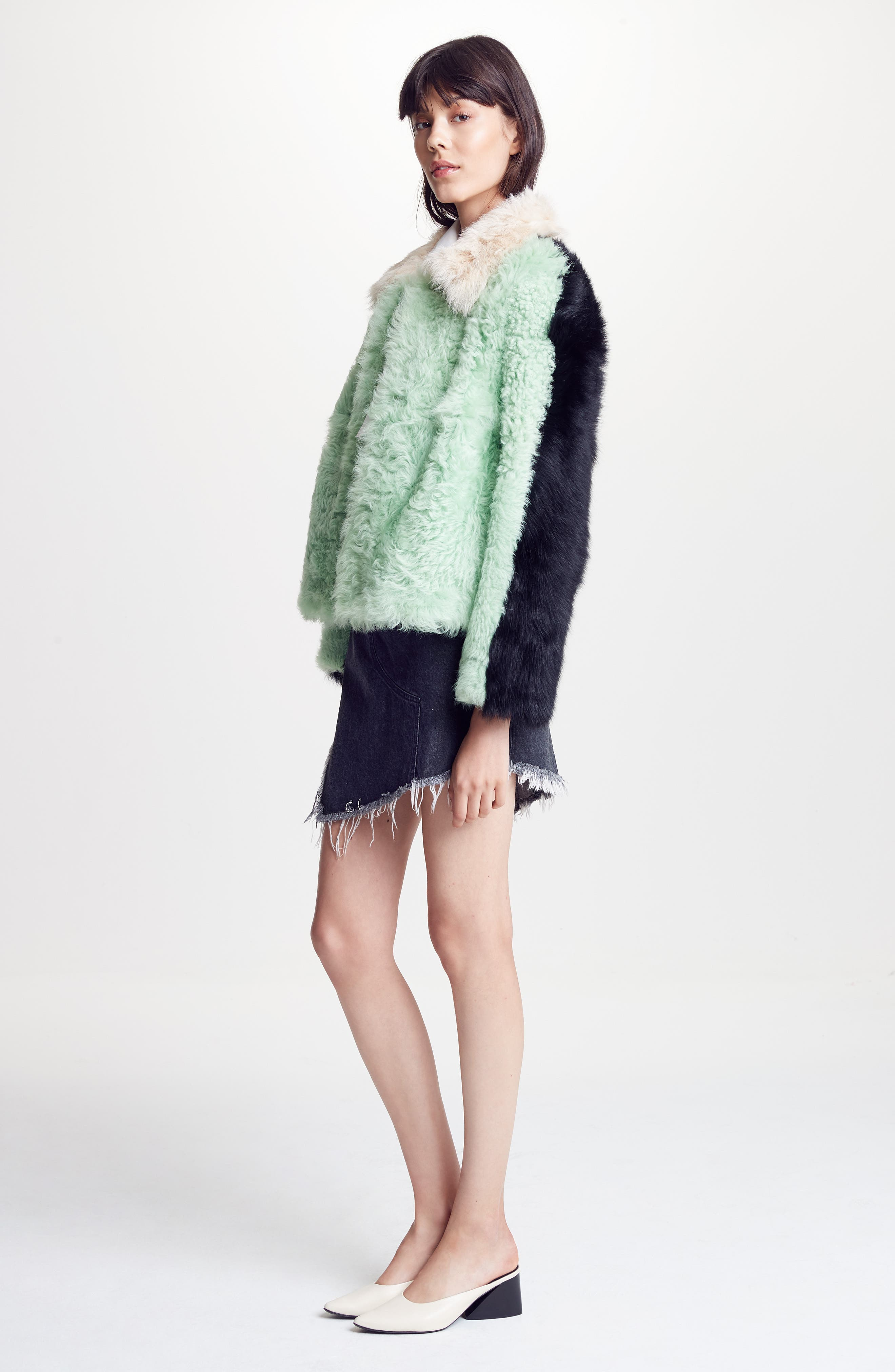 Alternate Image 2  - Sandy Liang Cashew Genuine Shearling Coat