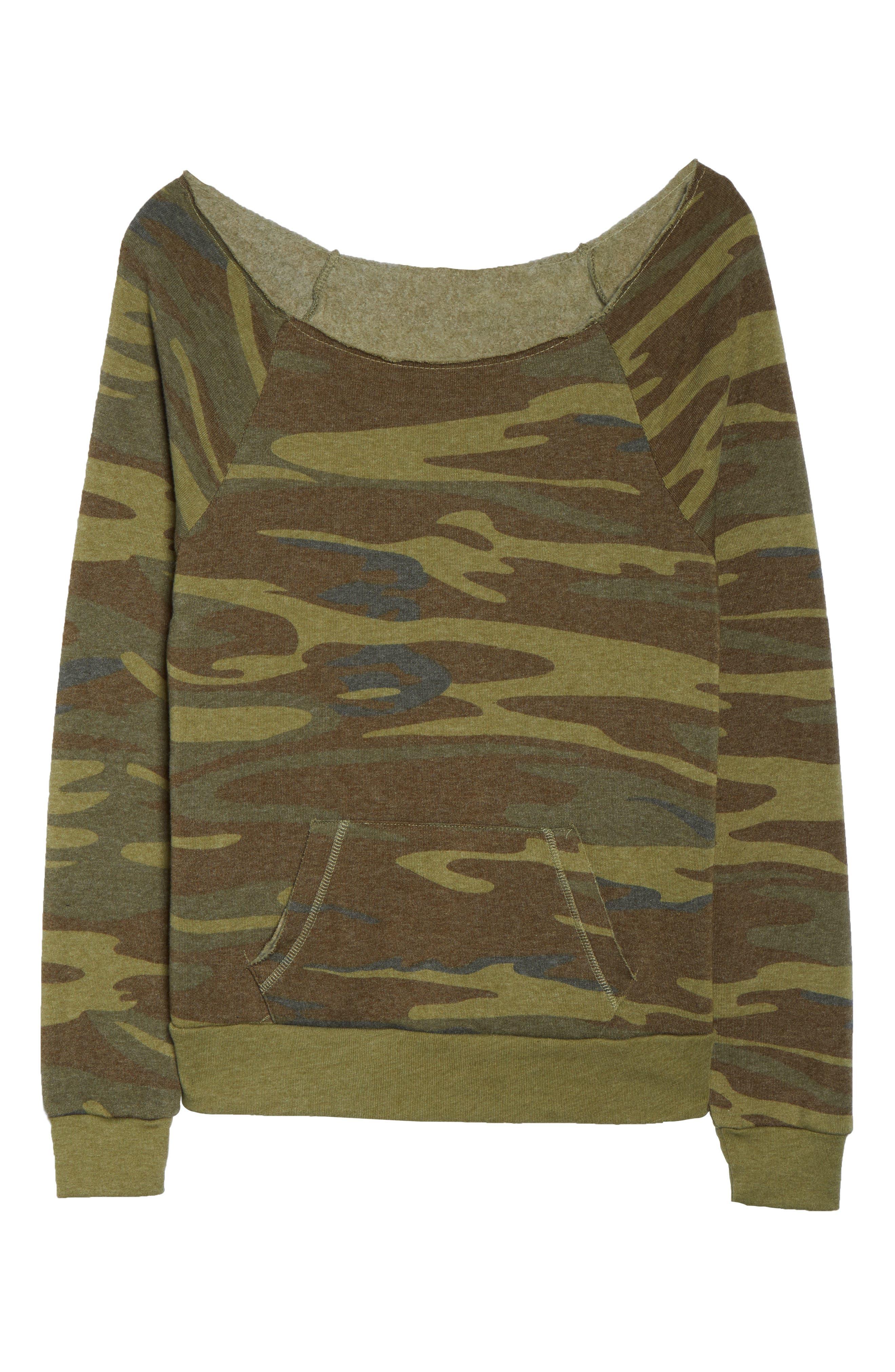 Alternate Image 4  - Alternative Maniac Camo Fleece Sweatshirt